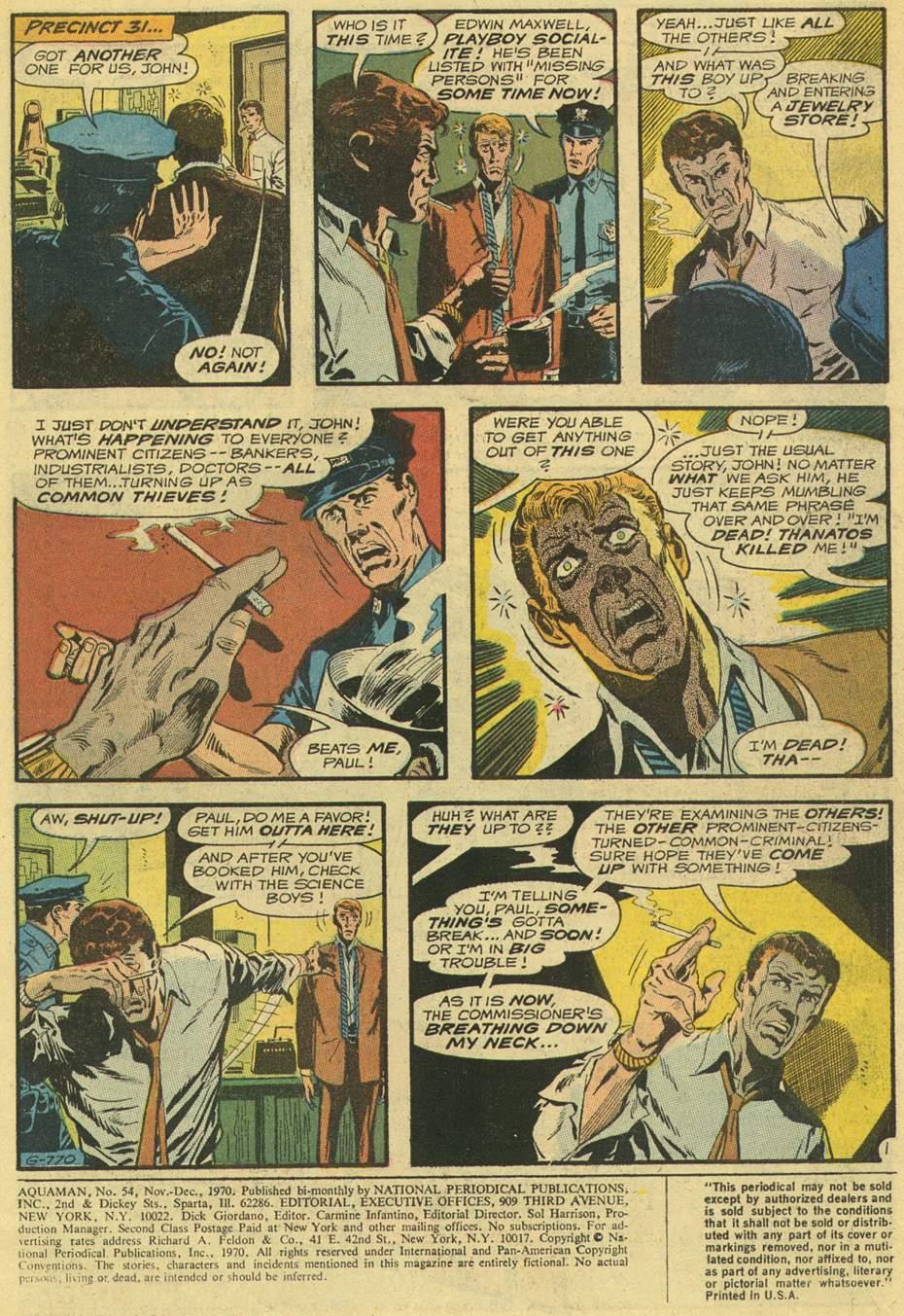 Read online Aquaman (1962) comic -  Issue #54 - 3