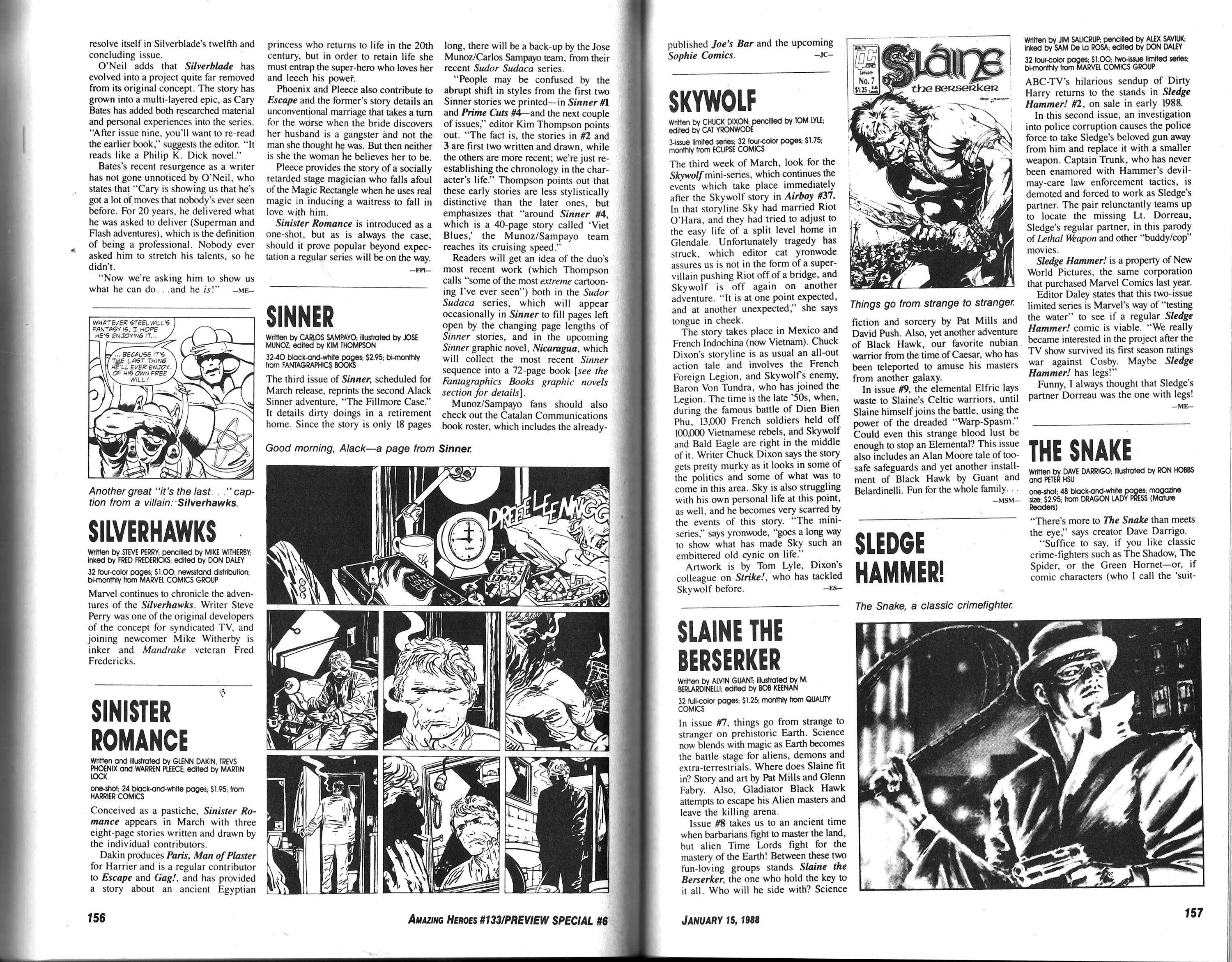Read online Amazing Heroes comic -  Issue #133 - 80
