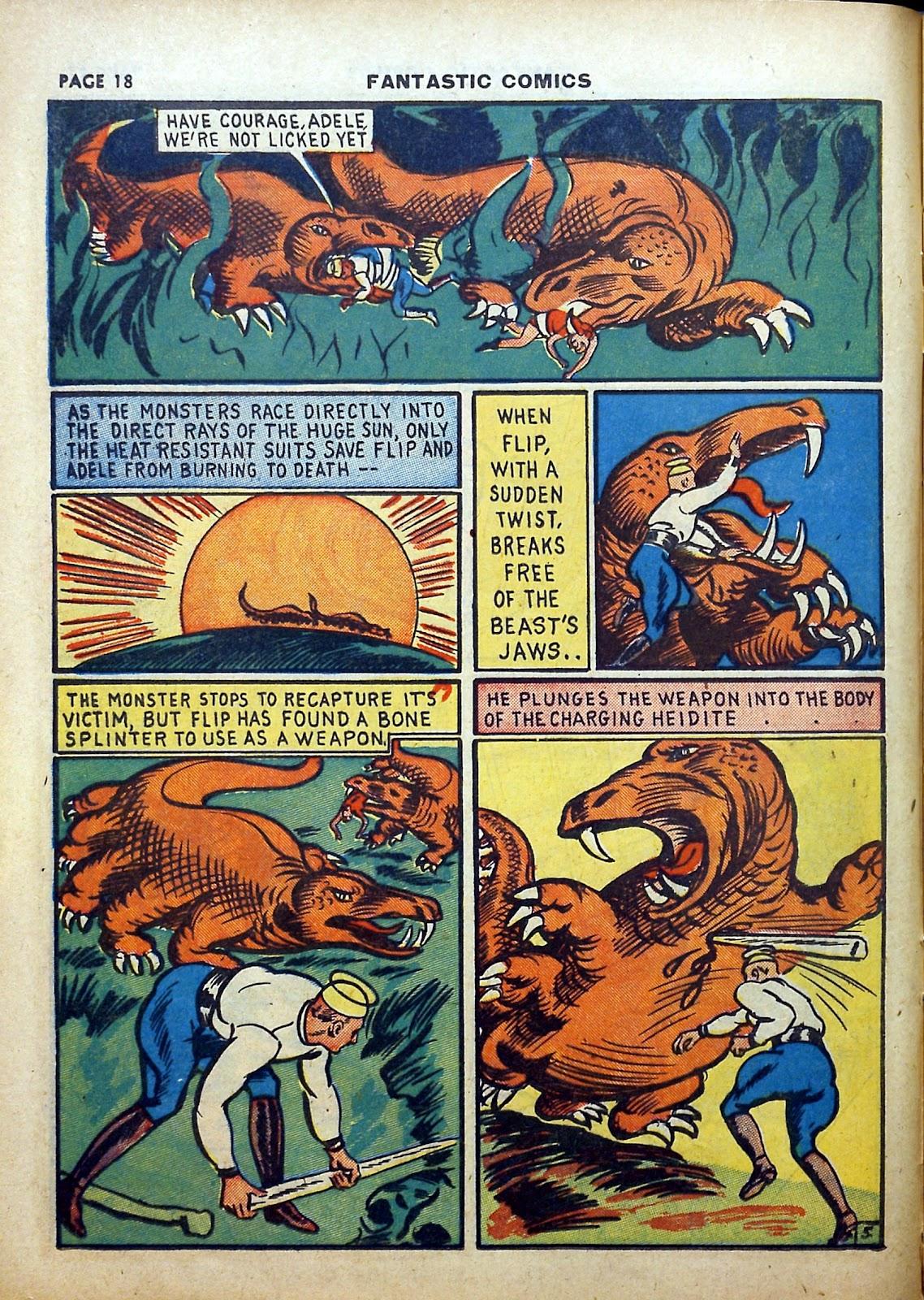 Read online Fantastic Comics comic -  Issue #5 - 19