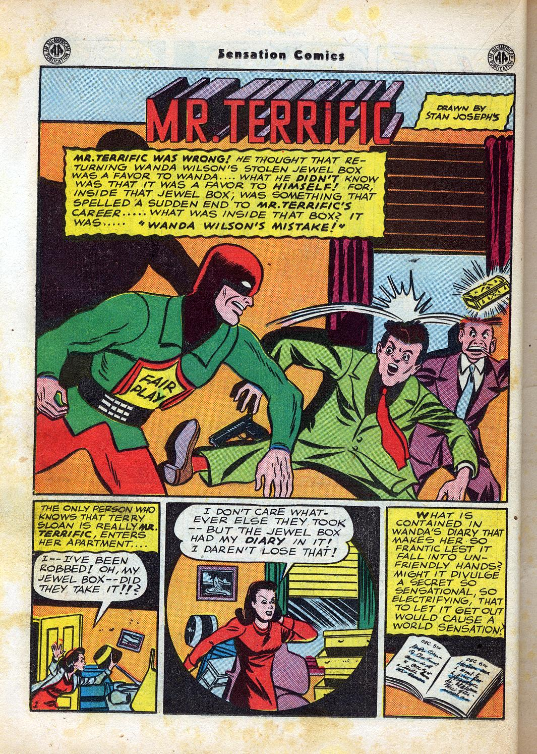 Read online Sensation (Mystery) Comics comic -  Issue #47 - 26