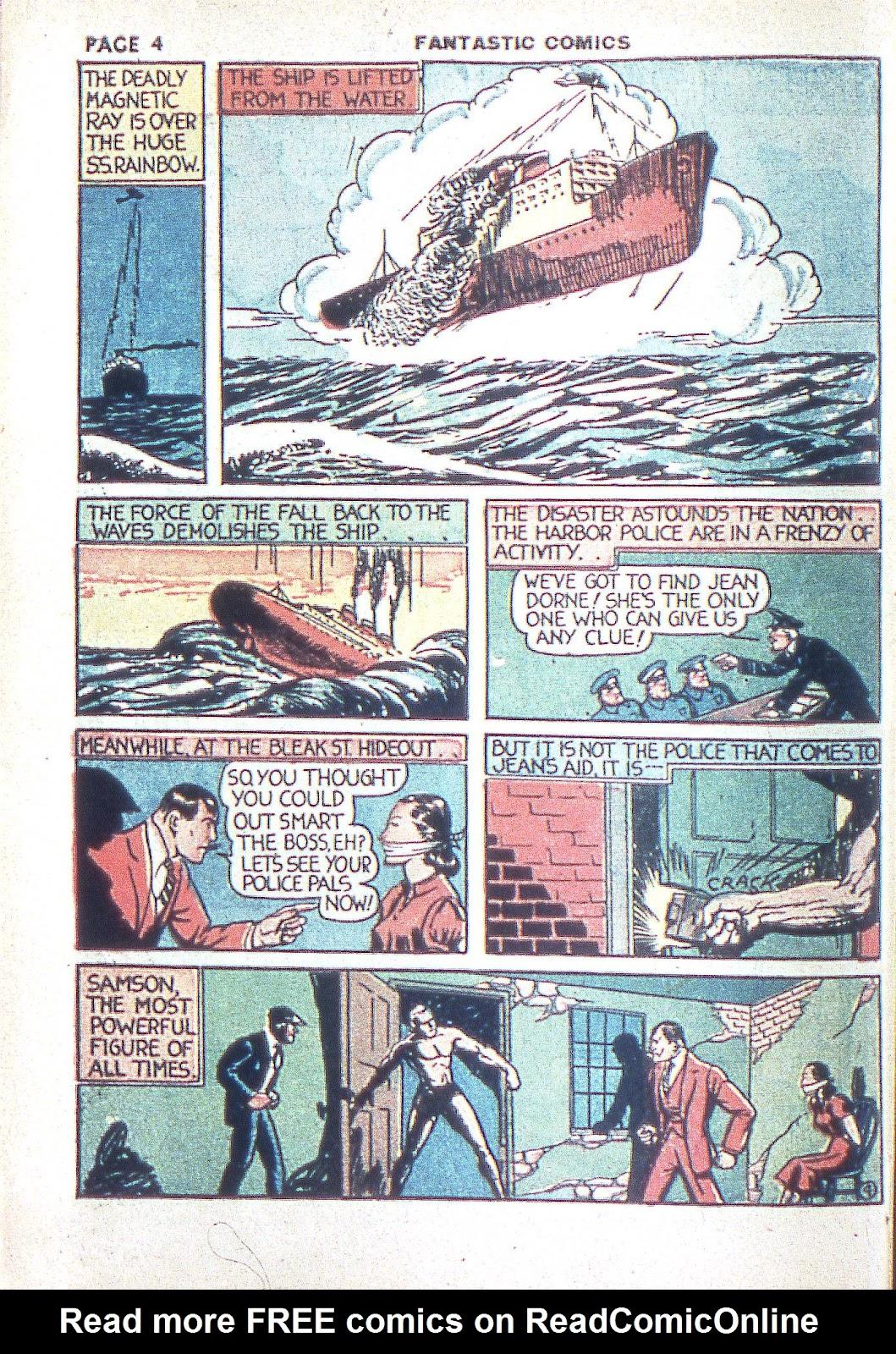 Read online Fantastic Comics comic -  Issue #3 - 7