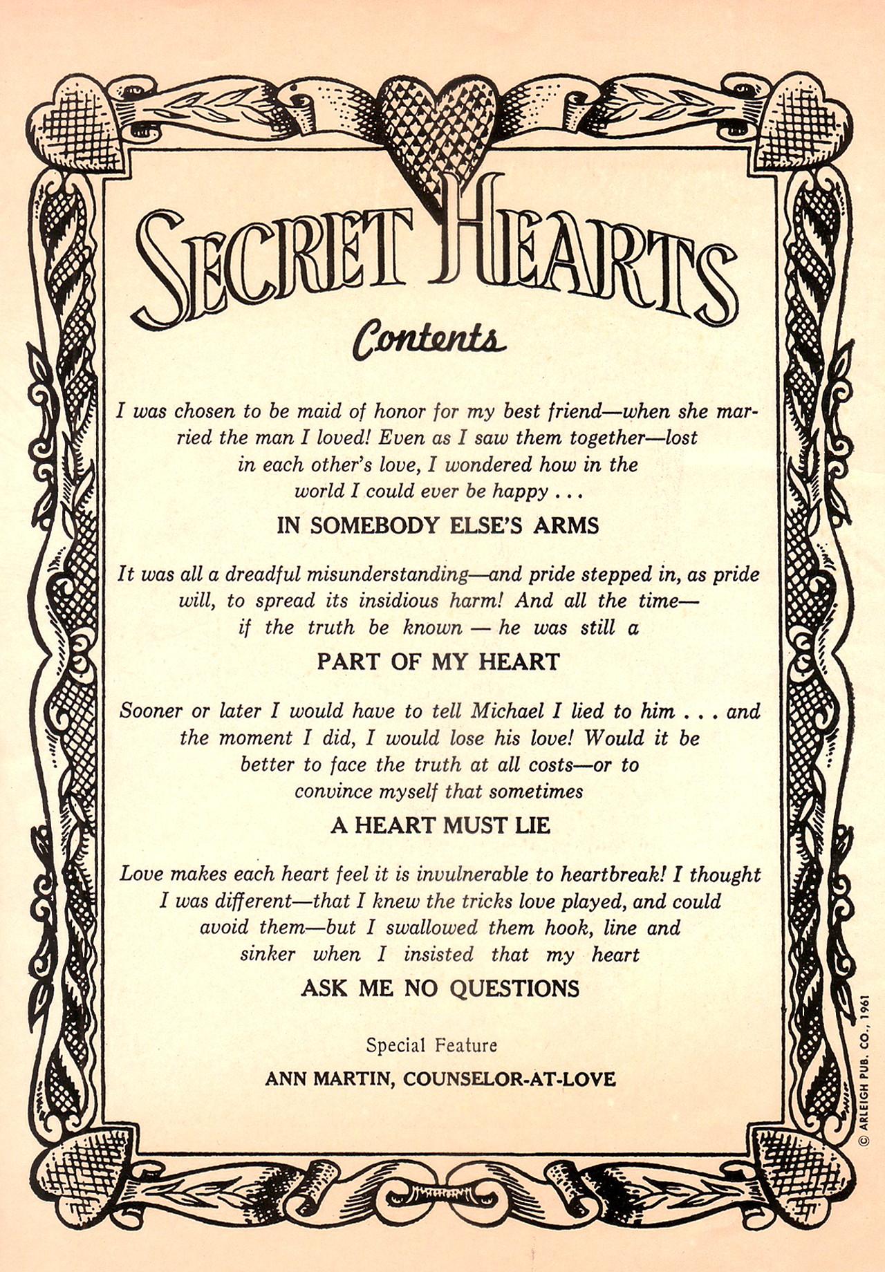 Read online Secret Hearts comic -  Issue #74 - 2