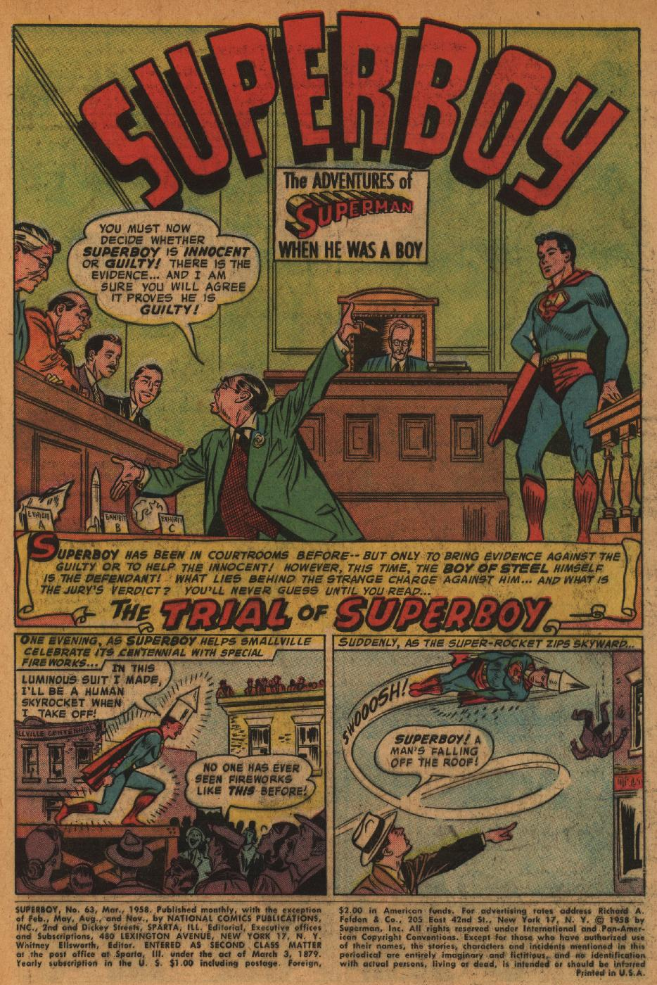 Superboy (1949) issue 63 - Page 2