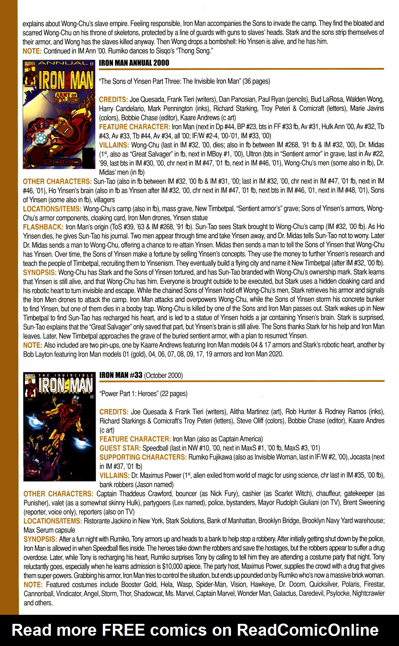 Read online Official Index to the Marvel Universe comic -  Issue #10 - 44