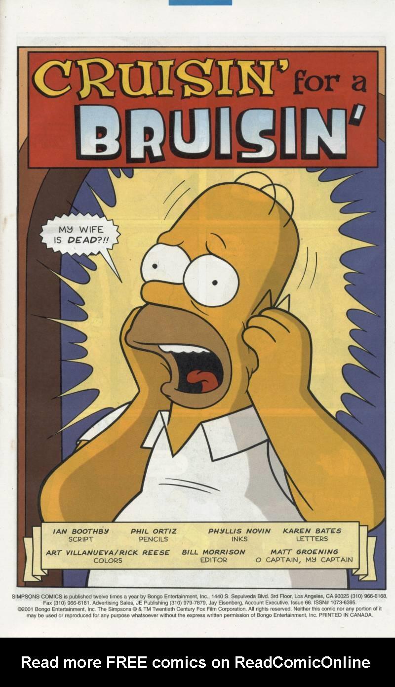 Read online Simpsons Comics comic -  Issue #66 - 2