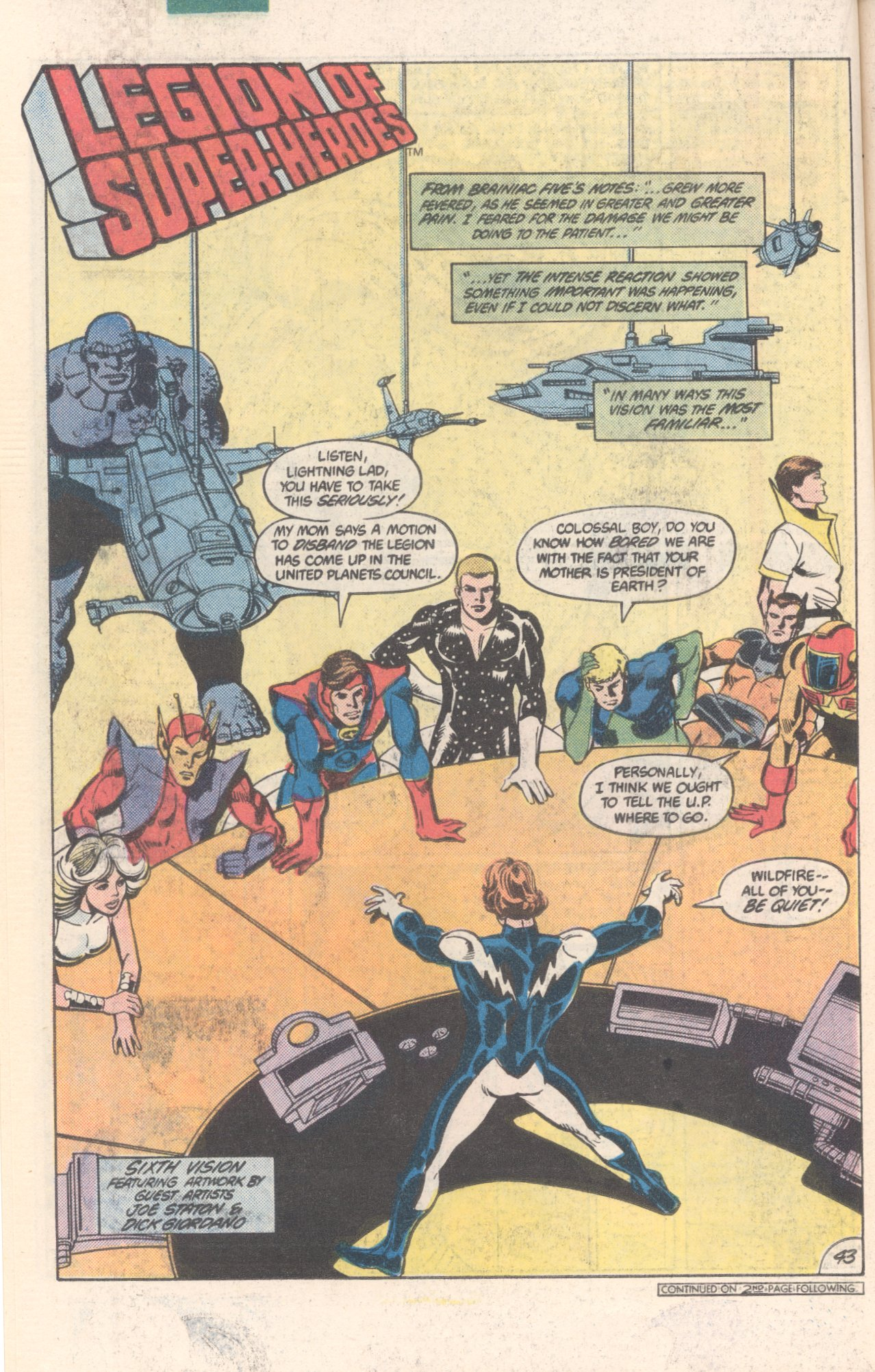 Legion of Super-Heroes (1980) 300 Page 43