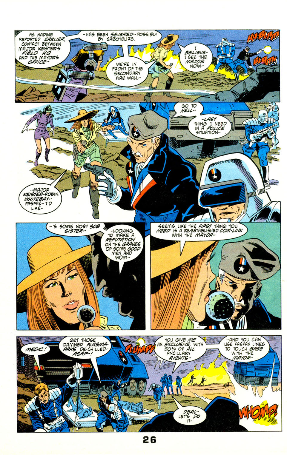 Read online American Flagg! comic -  Issue #29 - 29