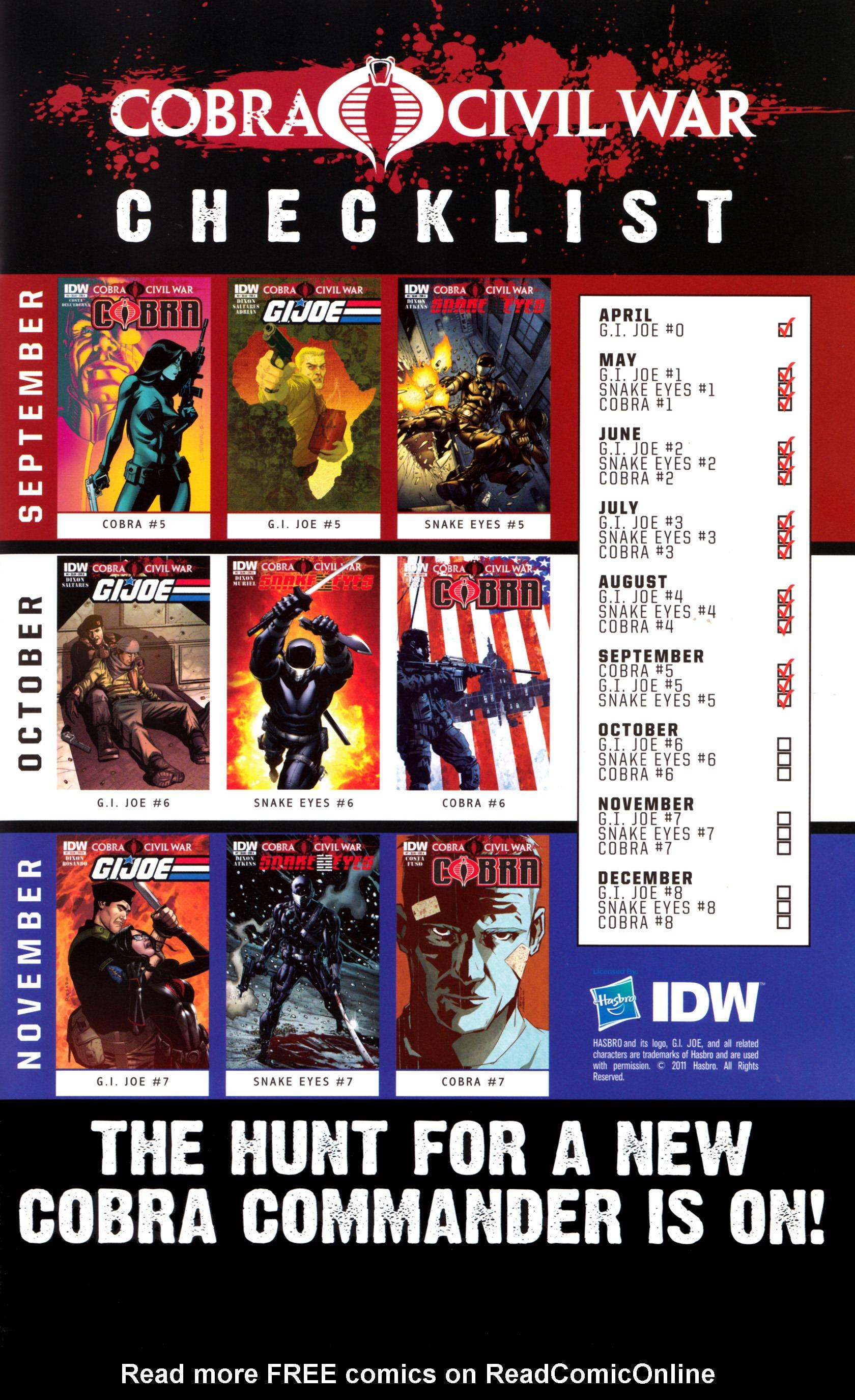 Read online G.I. Joe: Snake Eyes comic -  Issue #5 - 26