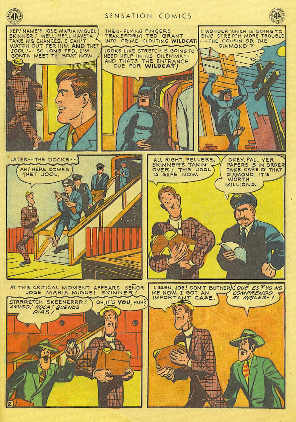 Read online Sensation (Mystery) Comics comic -  Issue #39 - 43