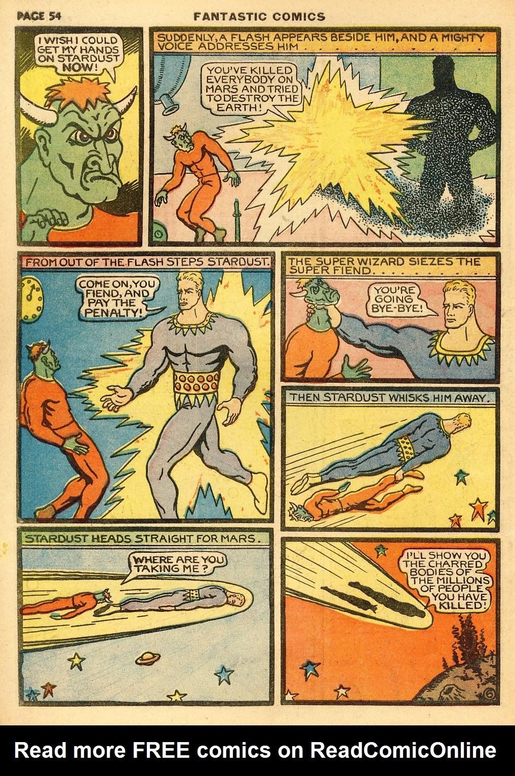 Read online Fantastic Comics comic -  Issue #10 - 55