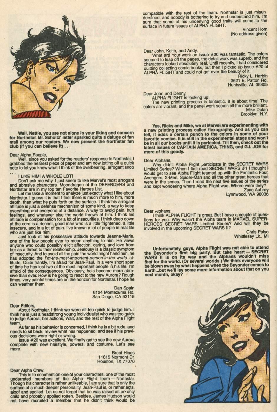 Read online Alpha Flight (1983) comic -  Issue #24 - 40