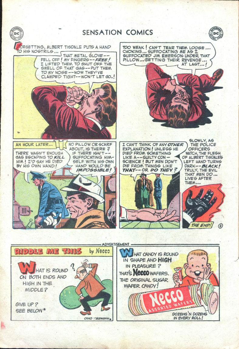 Read online Sensation (Mystery) Comics comic -  Issue #109 - 10