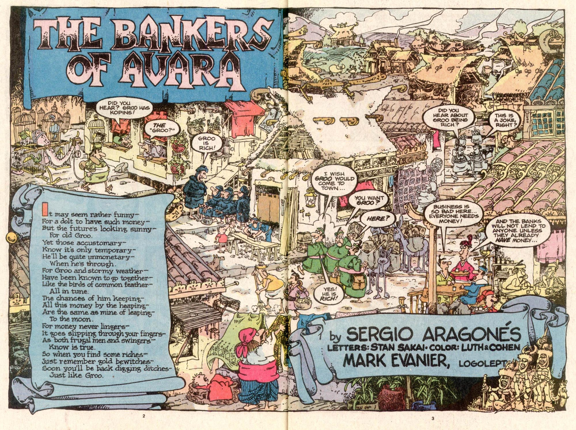 Read online Sergio Aragonés Groo the Wanderer comic -  Issue #32 - 3