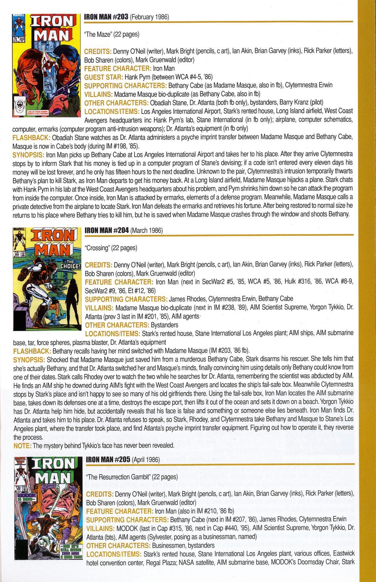 Read online Official Index to the Marvel Universe comic -  Issue #6 - 39