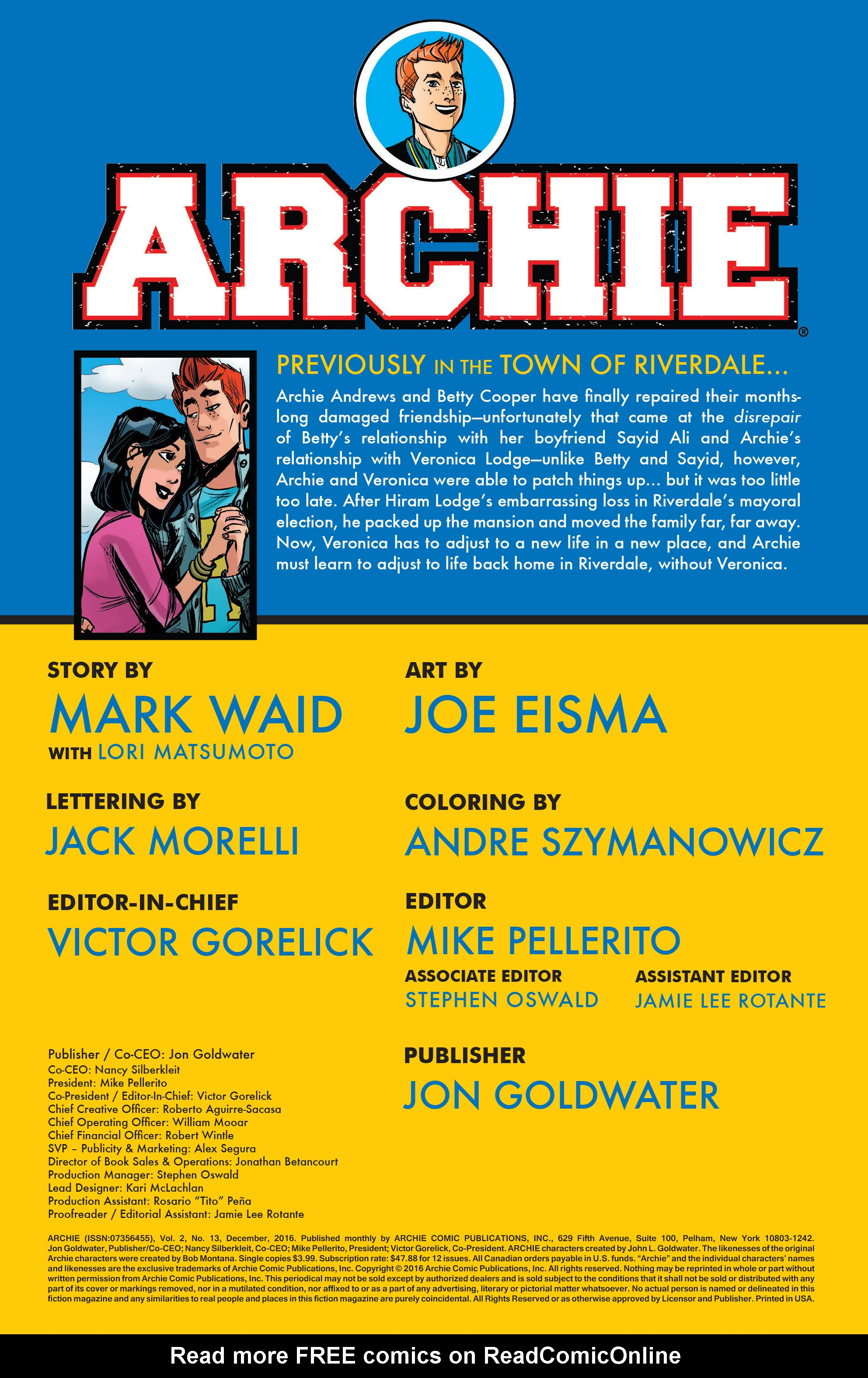 Read online Archie (2015) comic -  Issue #13 - 2