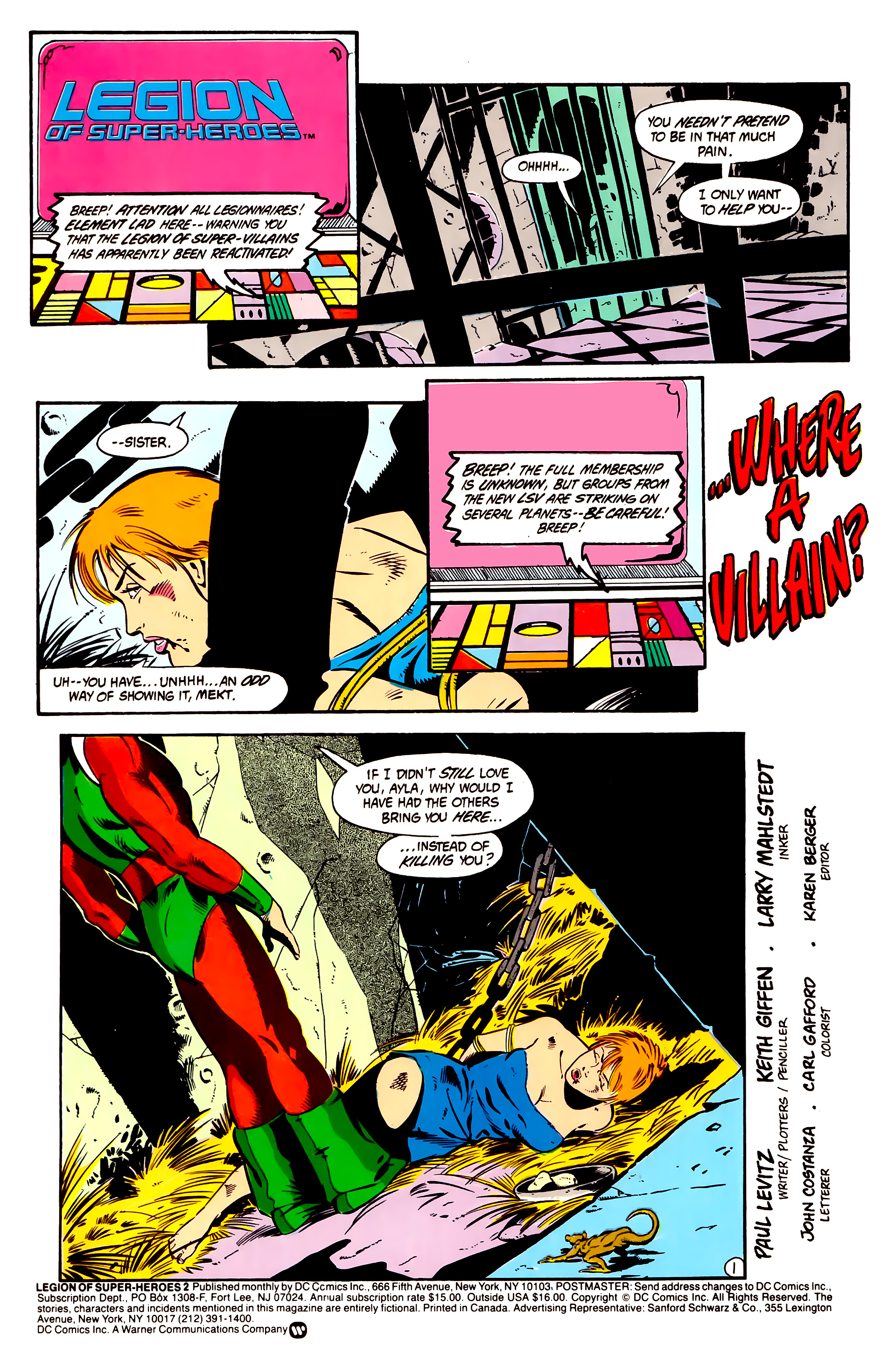 Legion of Super-Heroes (1984) 2 Page 2