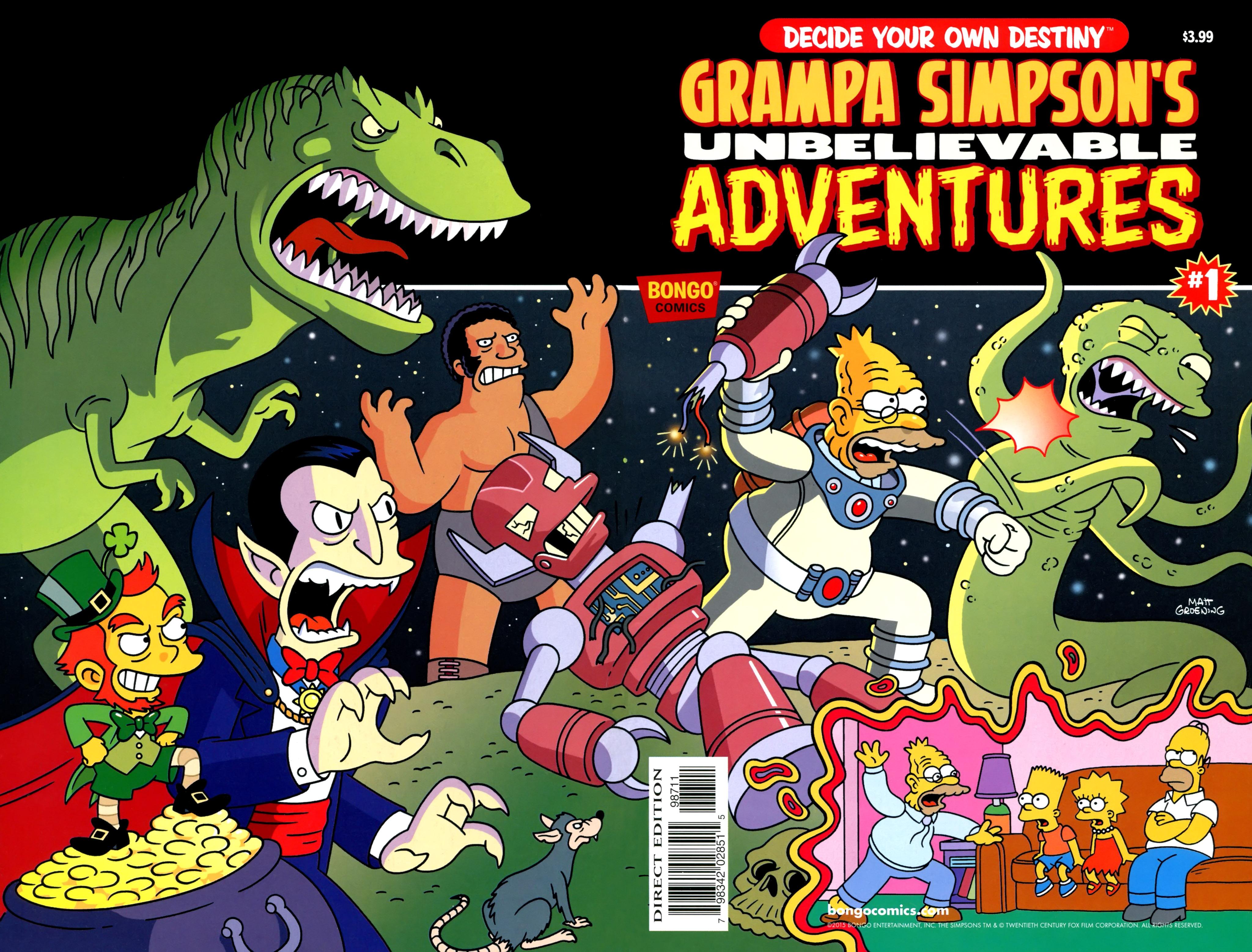 Read online Simpsons One-Shot Wonders: Grampa comic -  Issue # Full - 1