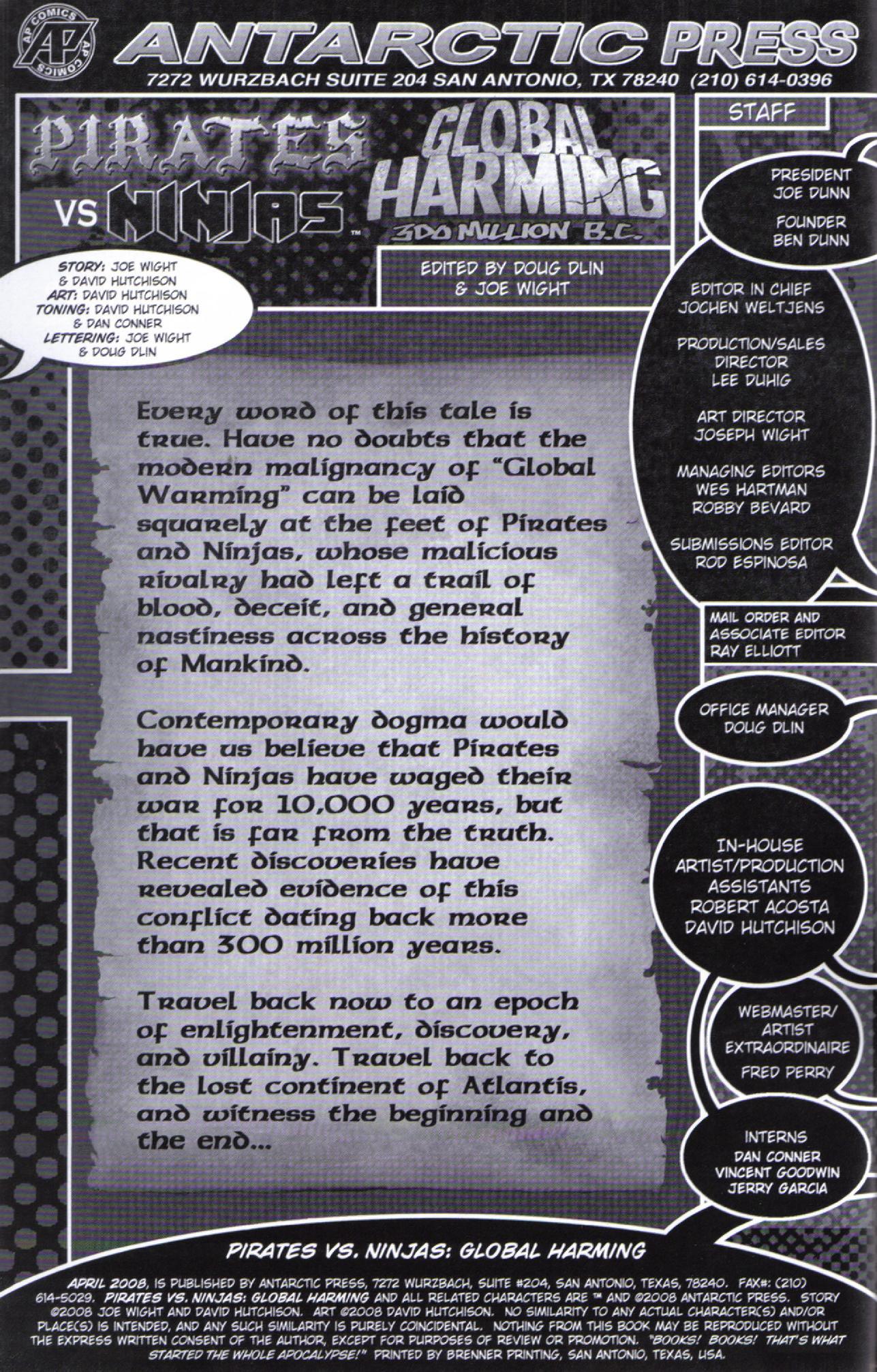 Read online Pirates vs. Ninjas: Global Harming comic -  Issue # Full - 2
