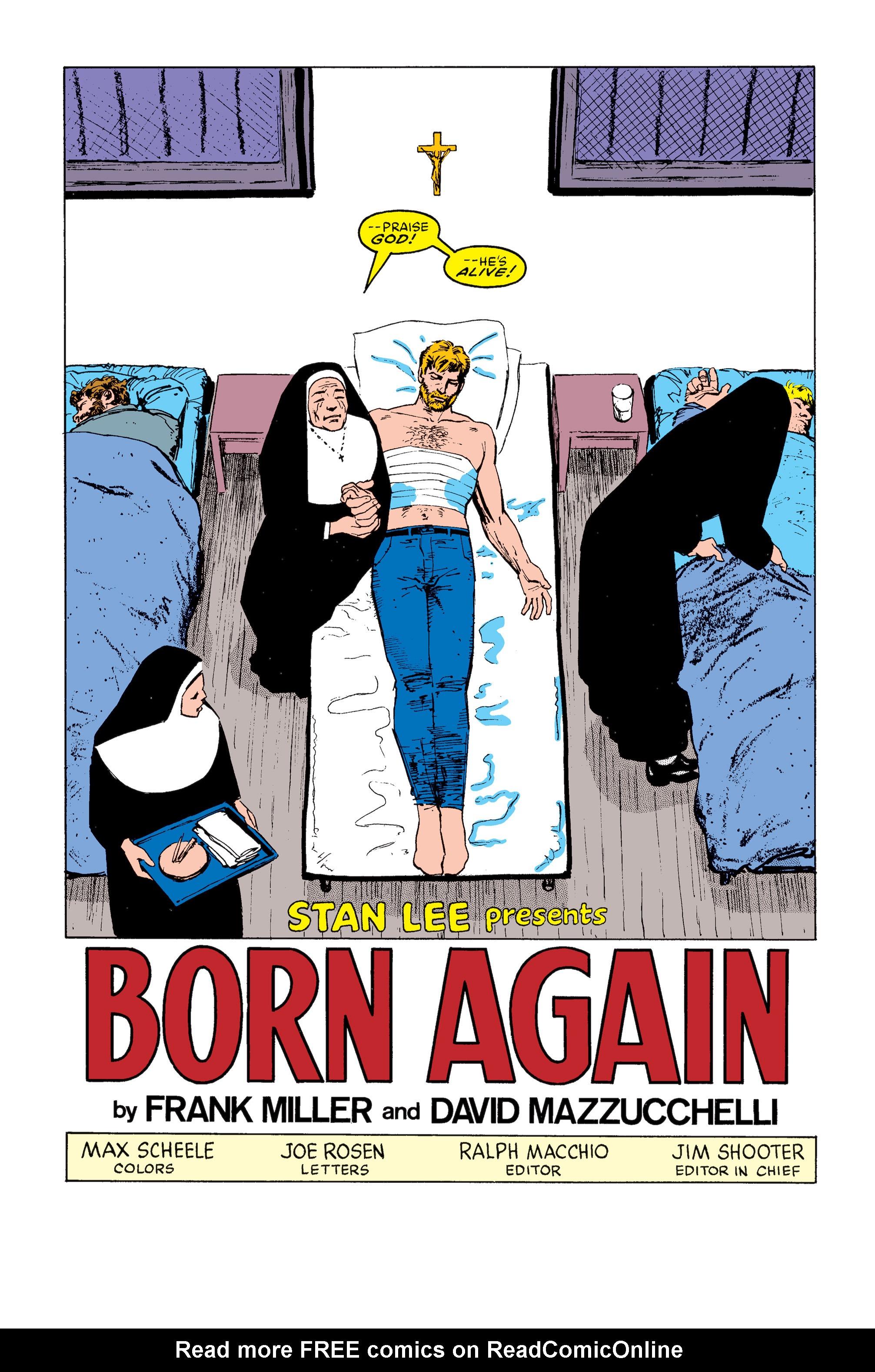 Read online Daredevil: Born Again comic -  Issue # Full - 101