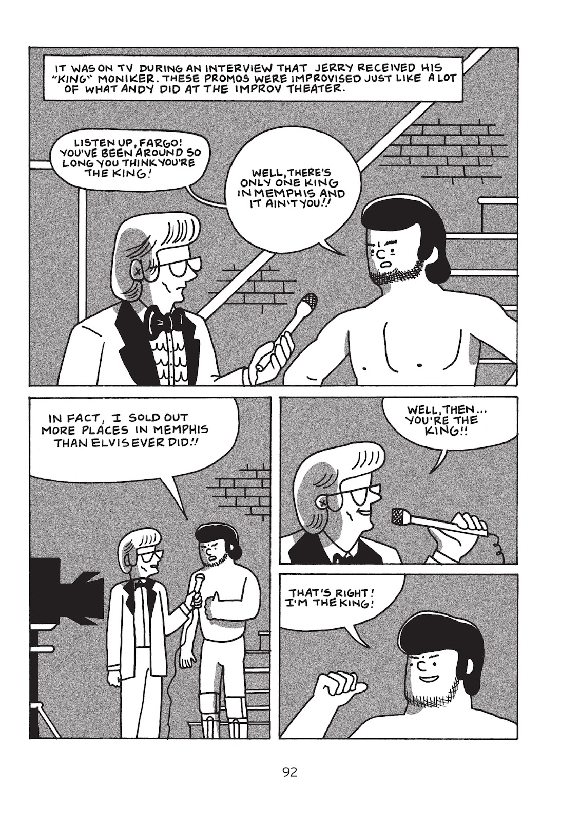 Read online Is This Guy For Real?: The Unbelievable Andy Kaufman comic -  Issue # TPB (Part 1) - 97