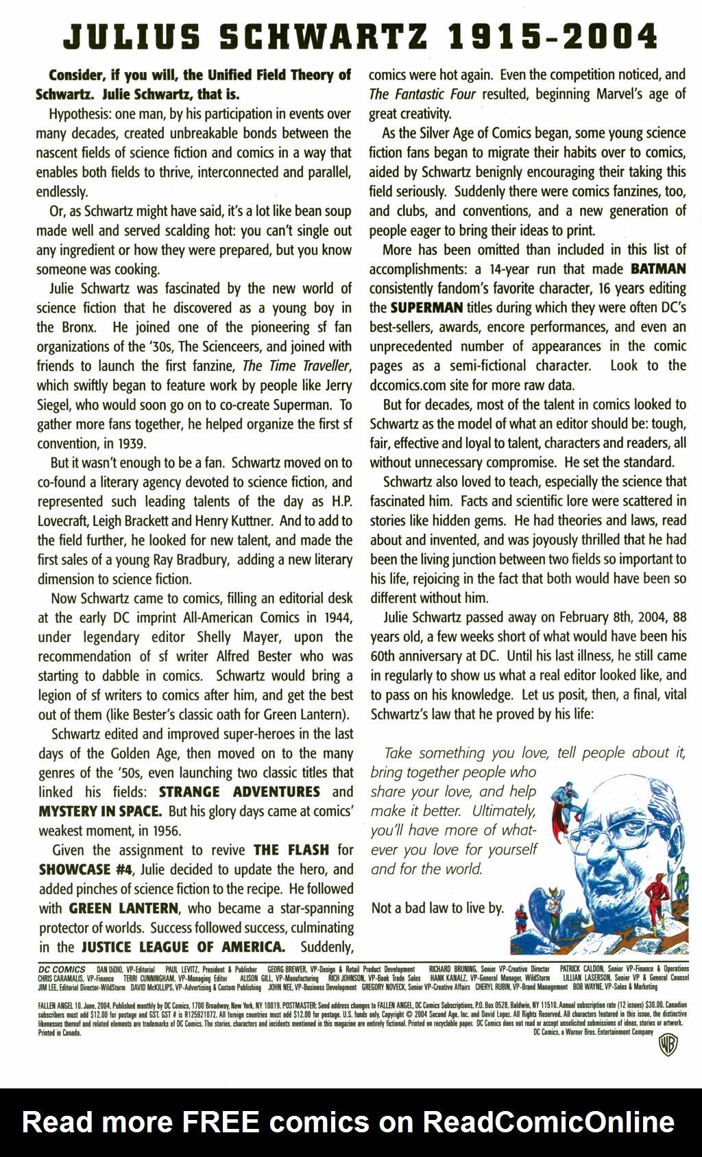 Read online Fallen Angel (2003) comic -  Issue #10 - 24