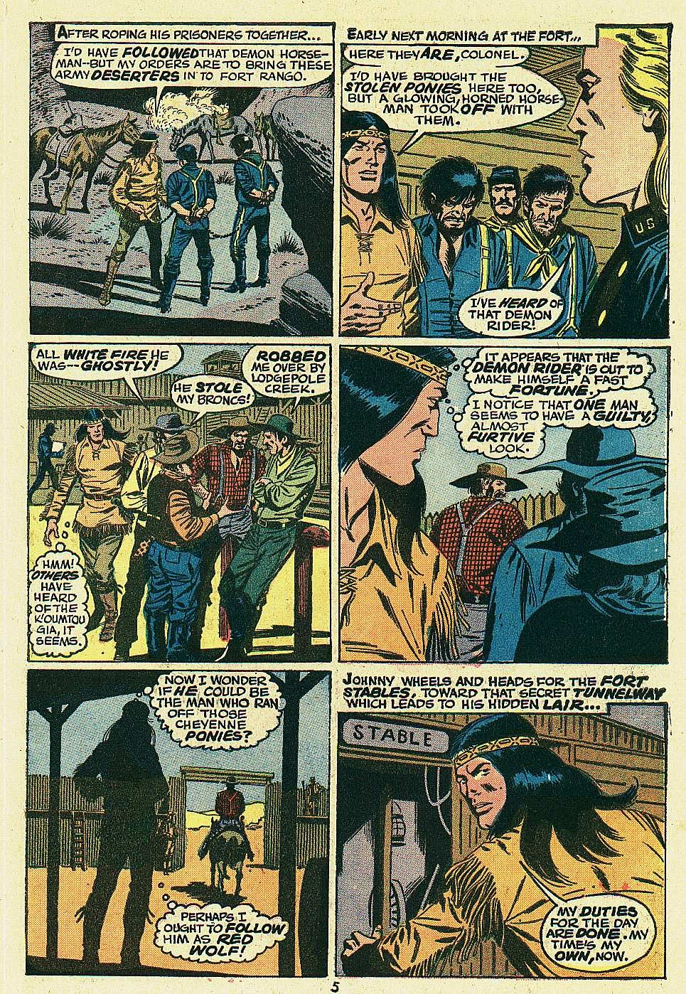 Red Wolf (1972) issue 6 - Page 5