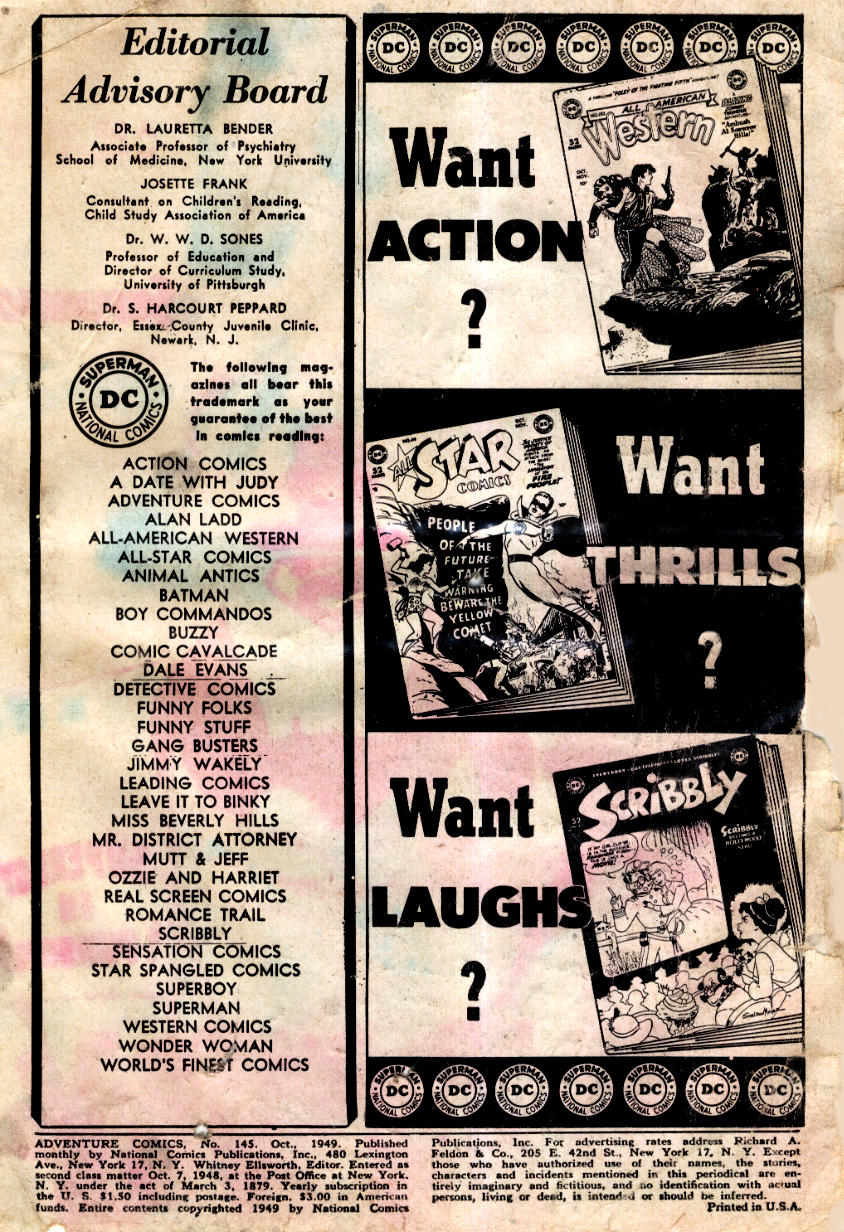 Read online Adventure Comics (1938) comic -  Issue #145 - 2