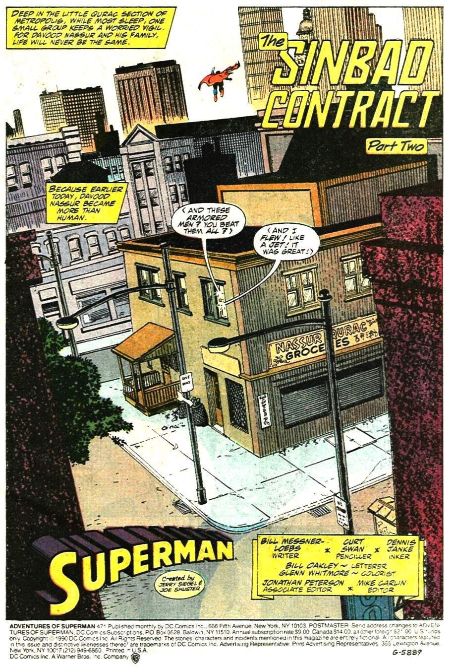 Read online Adventures of Superman (1987) comic -  Issue #471 - 2