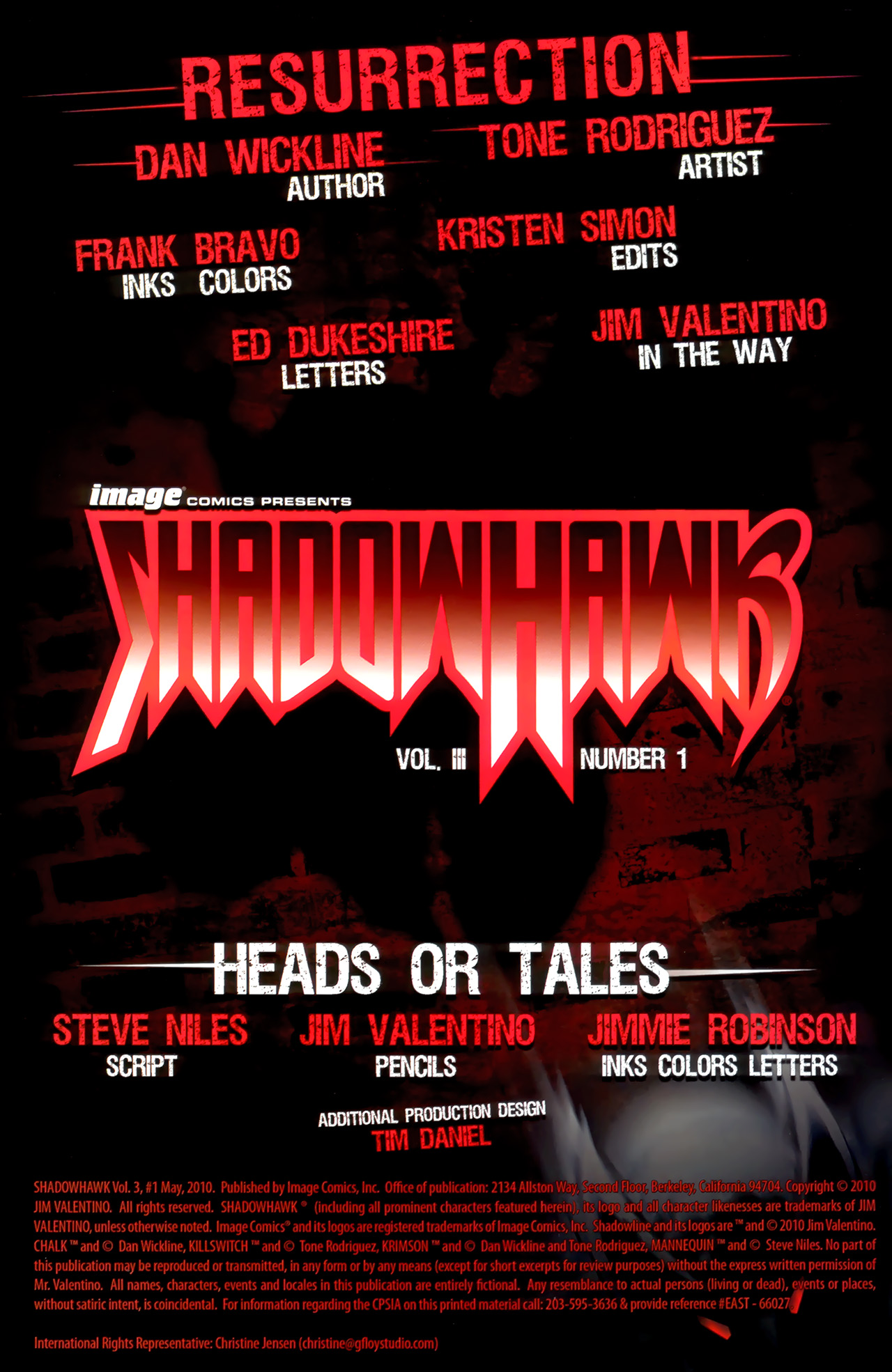 Read online ShadowHawk (2010) comic -  Issue #1 - 3