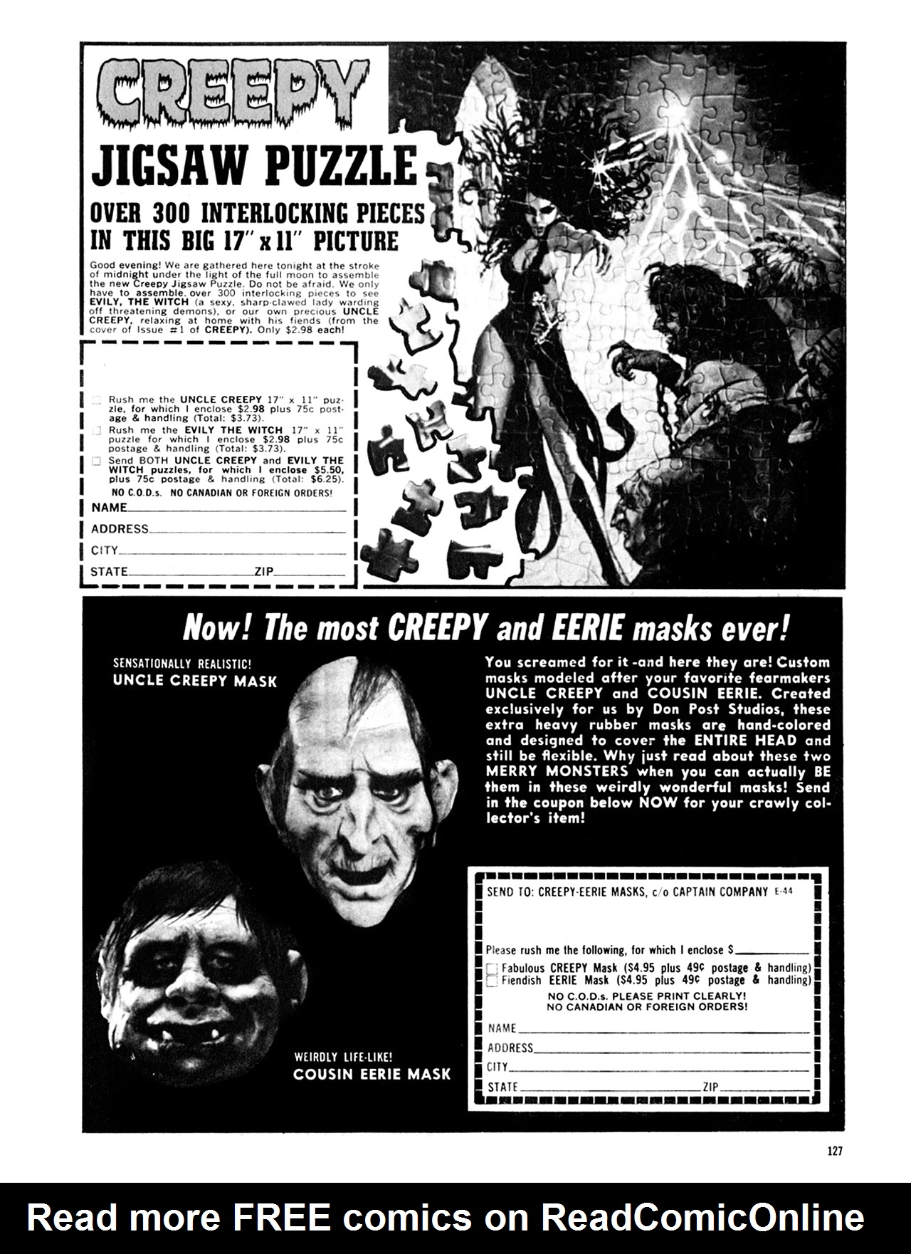 Read online Eerie Archives comic -  Issue # TPB 9 - 128