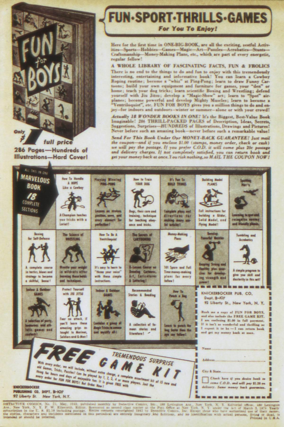 Read online Detective Comics (1937) comic -  Issue #75 - 2