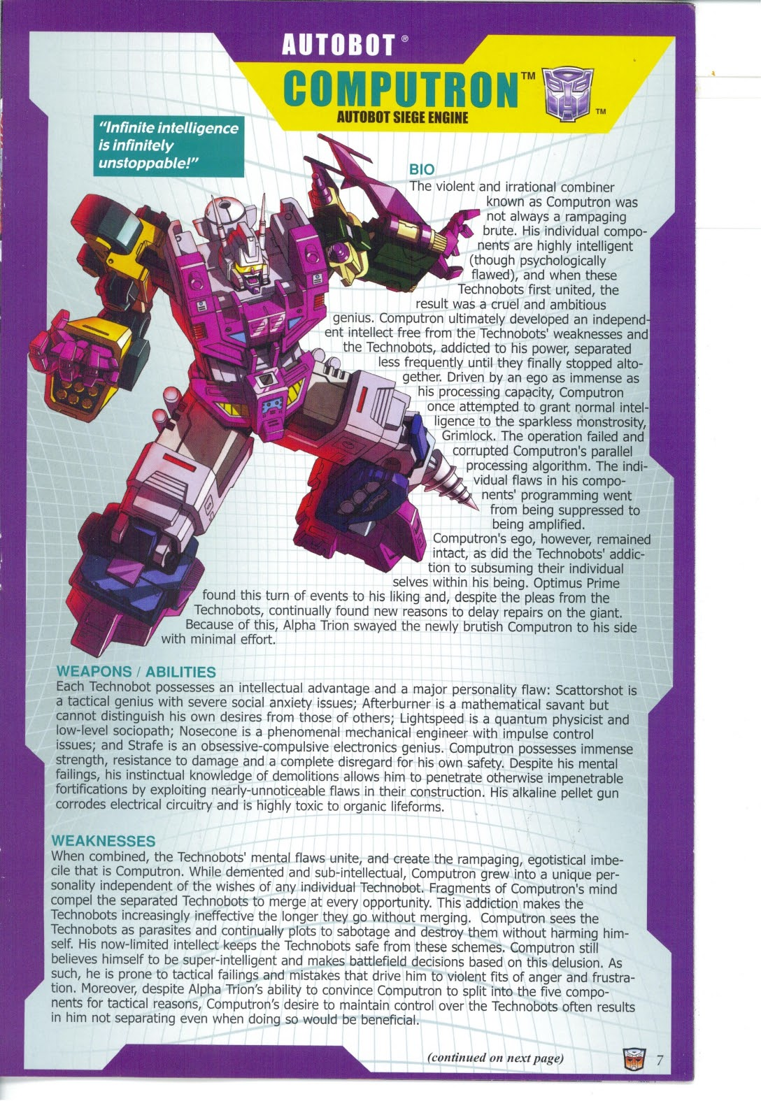 Read online Transformers: Collectors' Club comic -  Issue #27 - 7