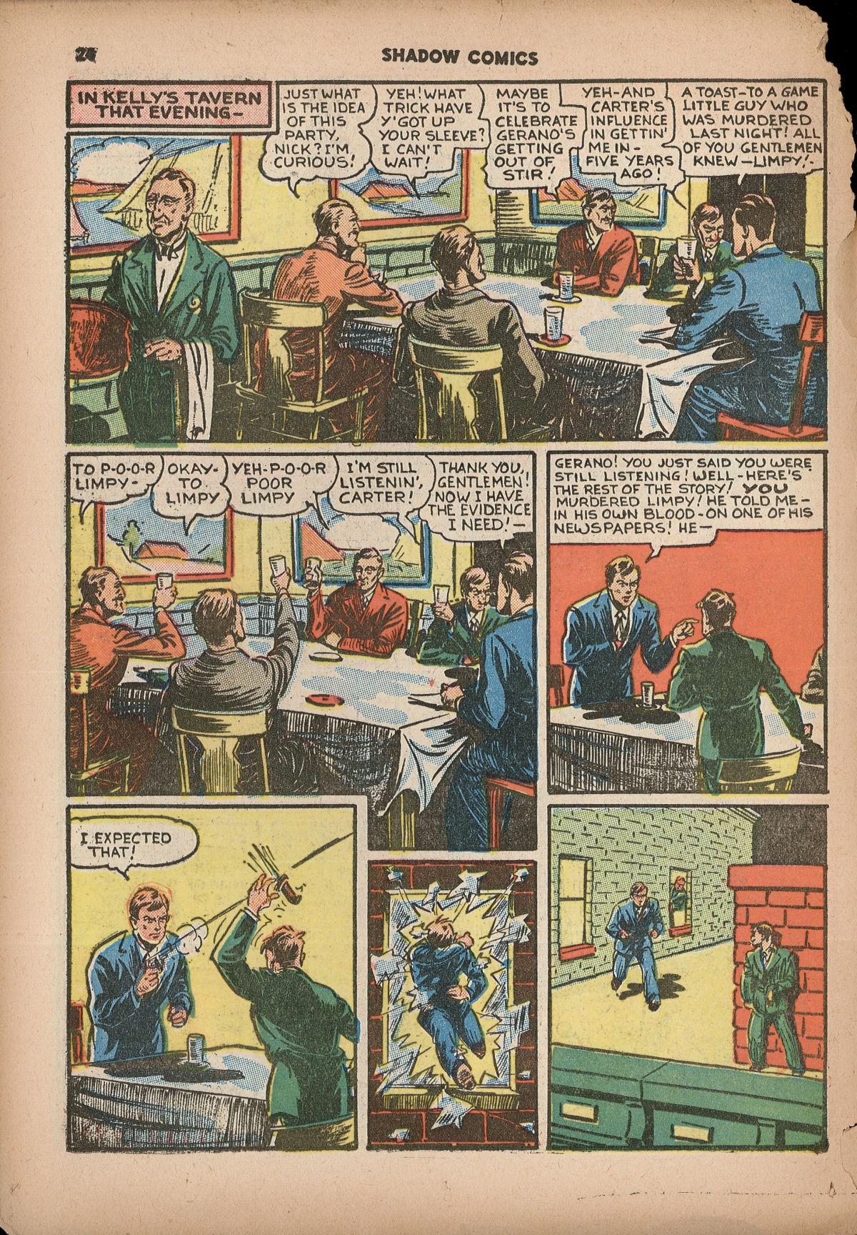 Read online Shadow Comics comic -  Issue #2 - 27
