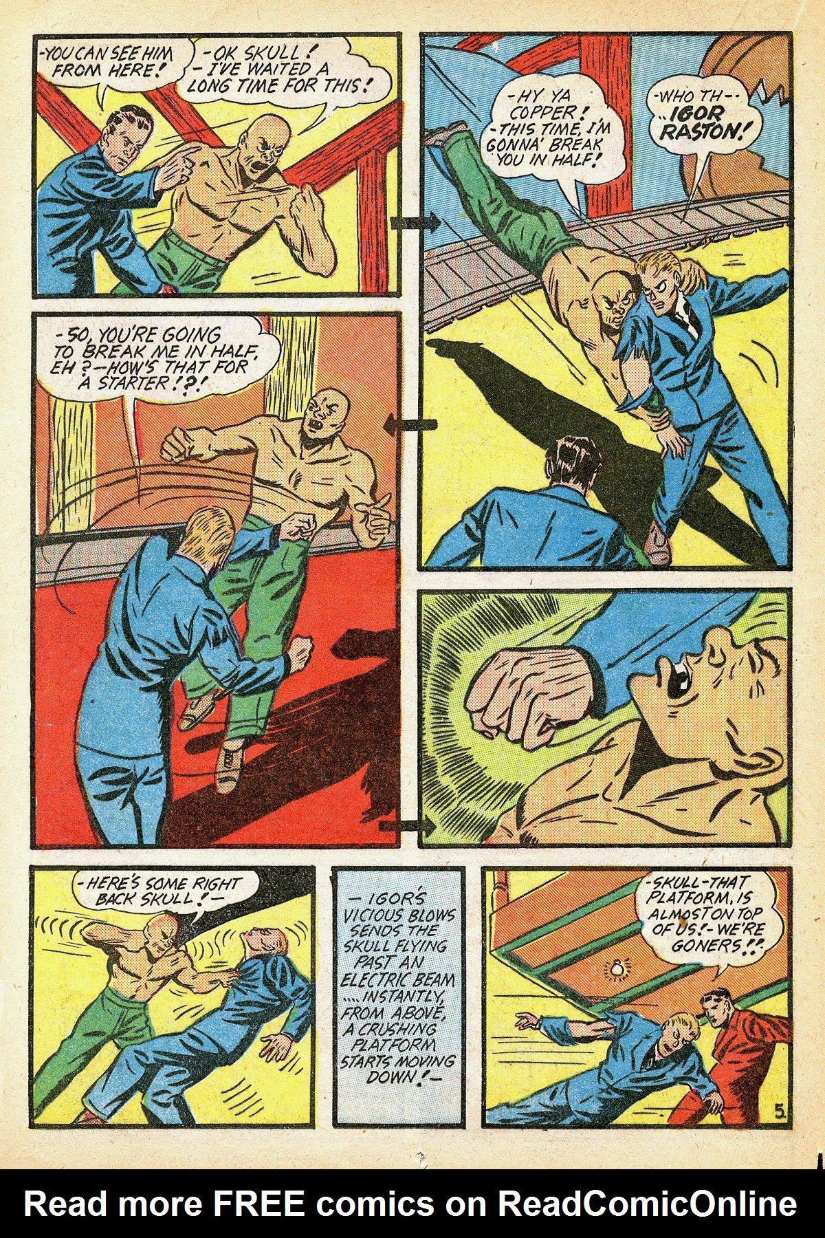Read online Amazing Man Comics comic -  Issue #10 - 31