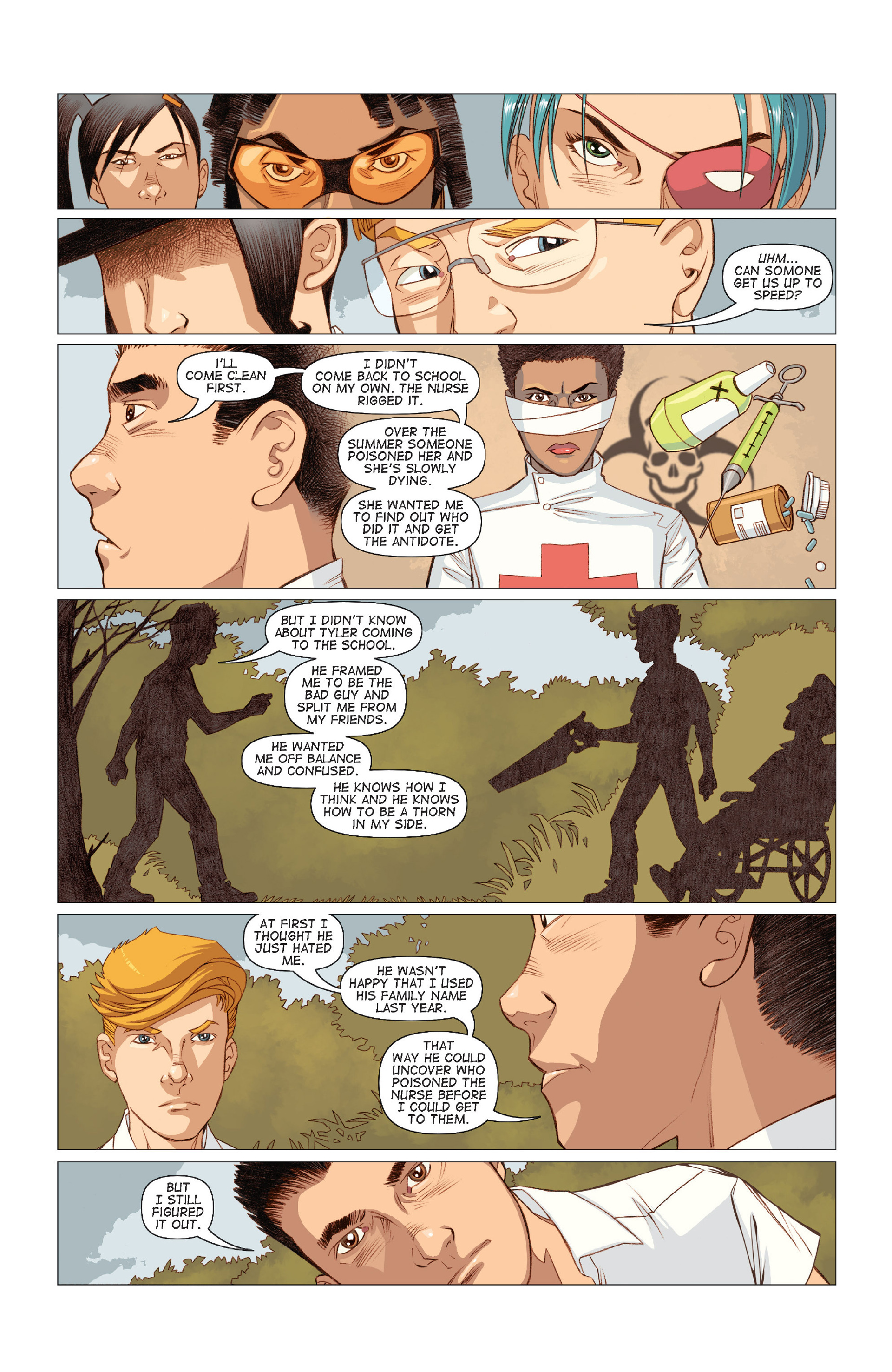Read online Five Weapons comic -  Issue #9 - 12