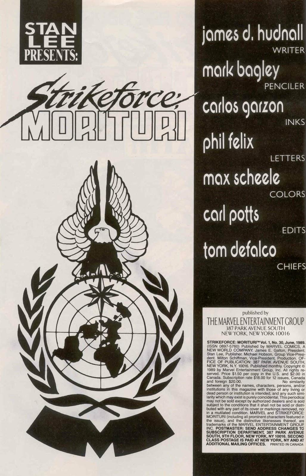 Strikeforce: Morituri 30 Page 2