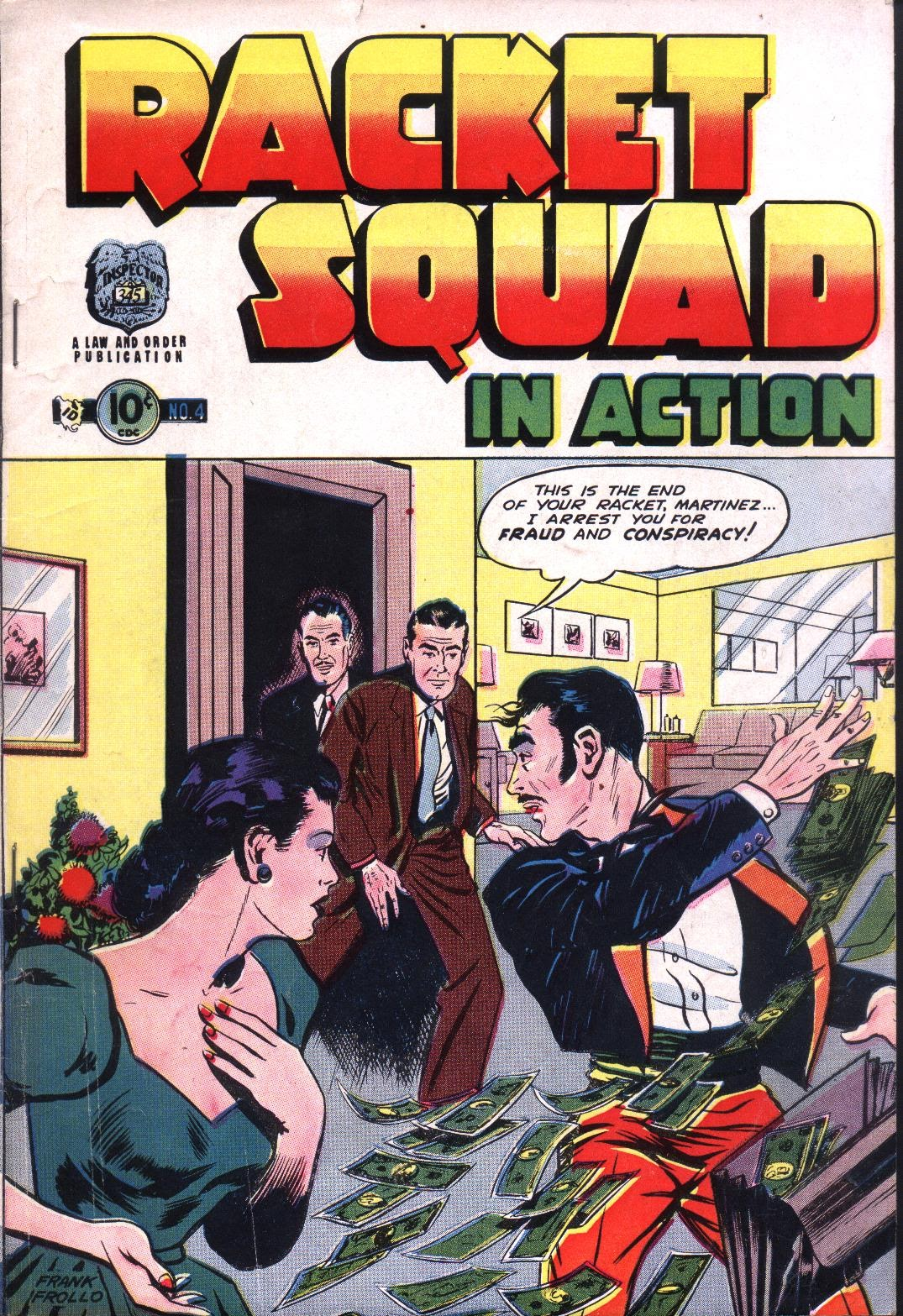 Read online Racket Squad in Action comic -  Issue #4 - 1
