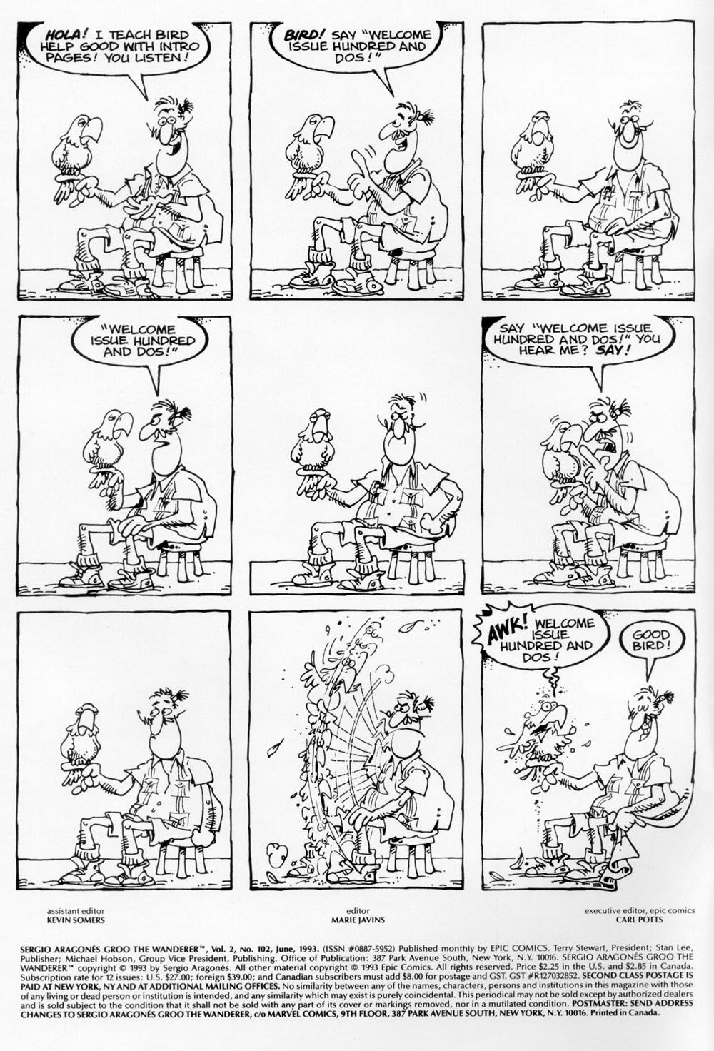 Read online Sergio Aragonés Groo the Wanderer comic -  Issue #102 - 2