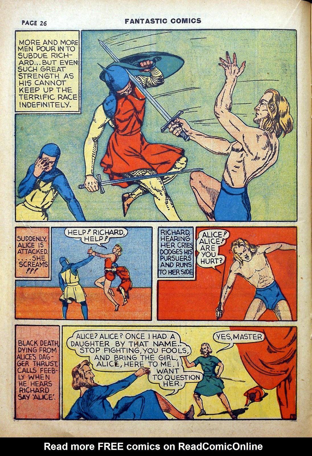 Read online Fantastic Comics comic -  Issue #5 - 27