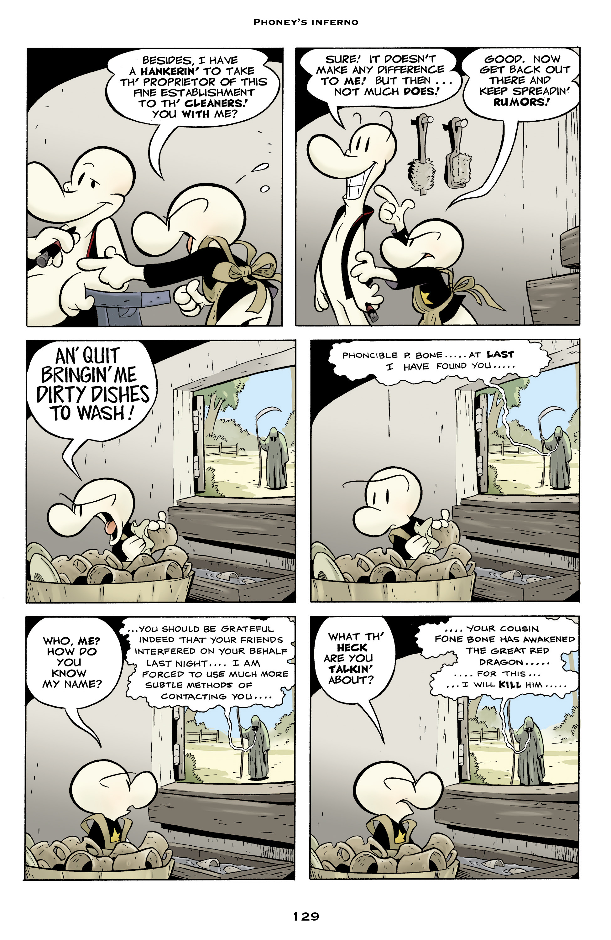 Read online Bone: Out From Boneville comic -  Issue # TPB - 129