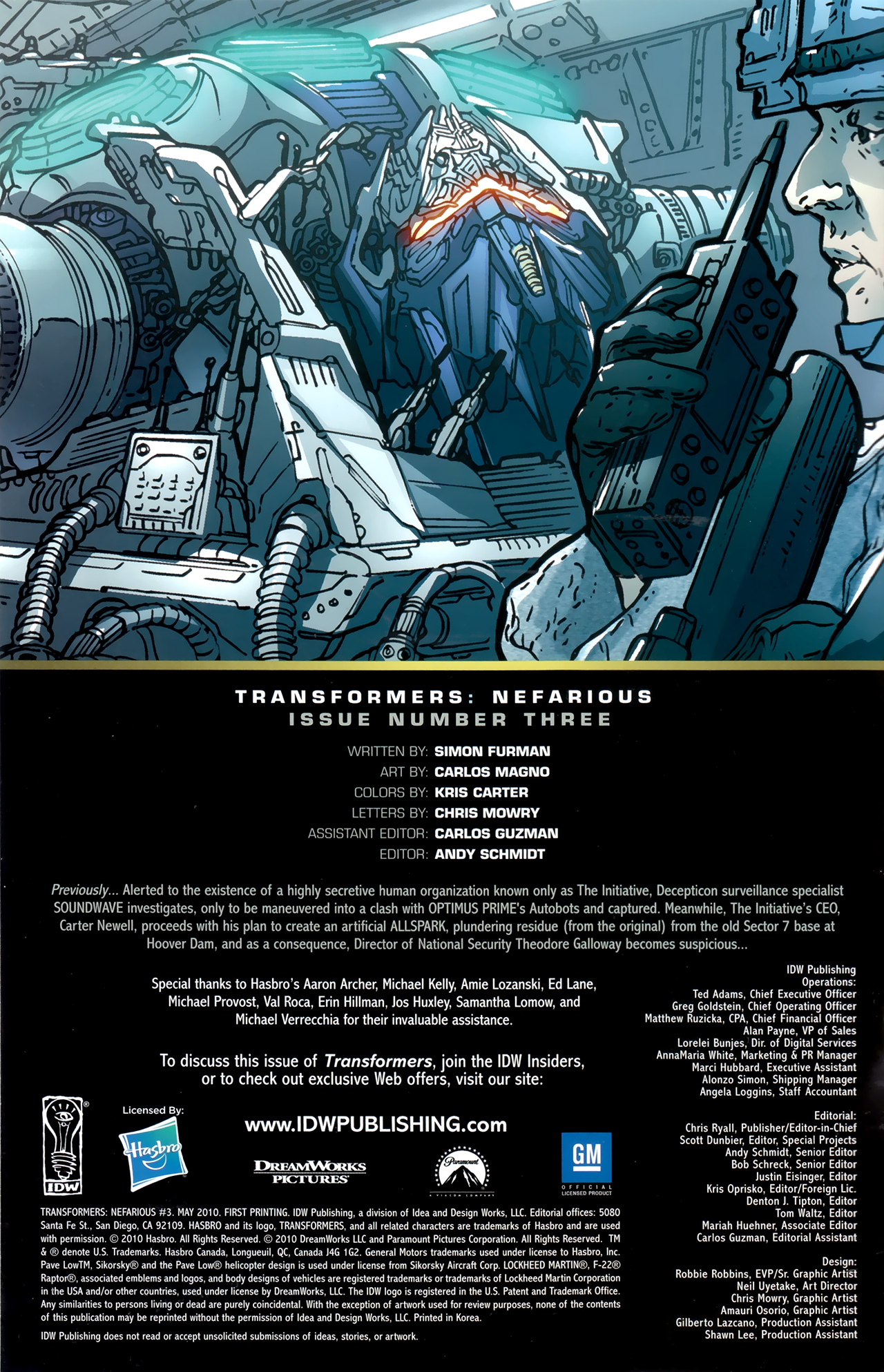 Read online Transformers: Nefarious comic -  Issue #3 - 3