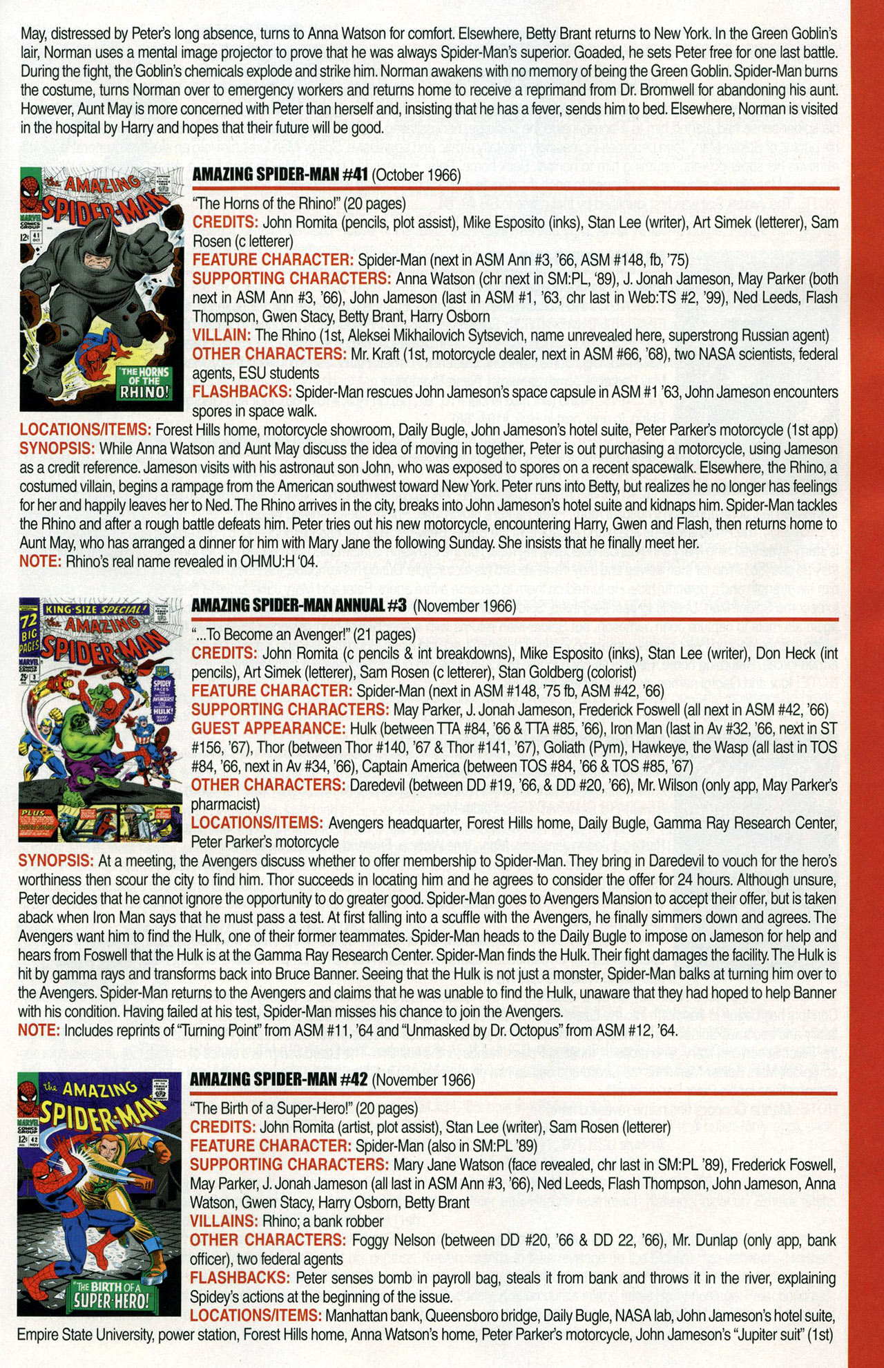 Read online Official Index to the Marvel Universe comic -  Issue #1 - 19