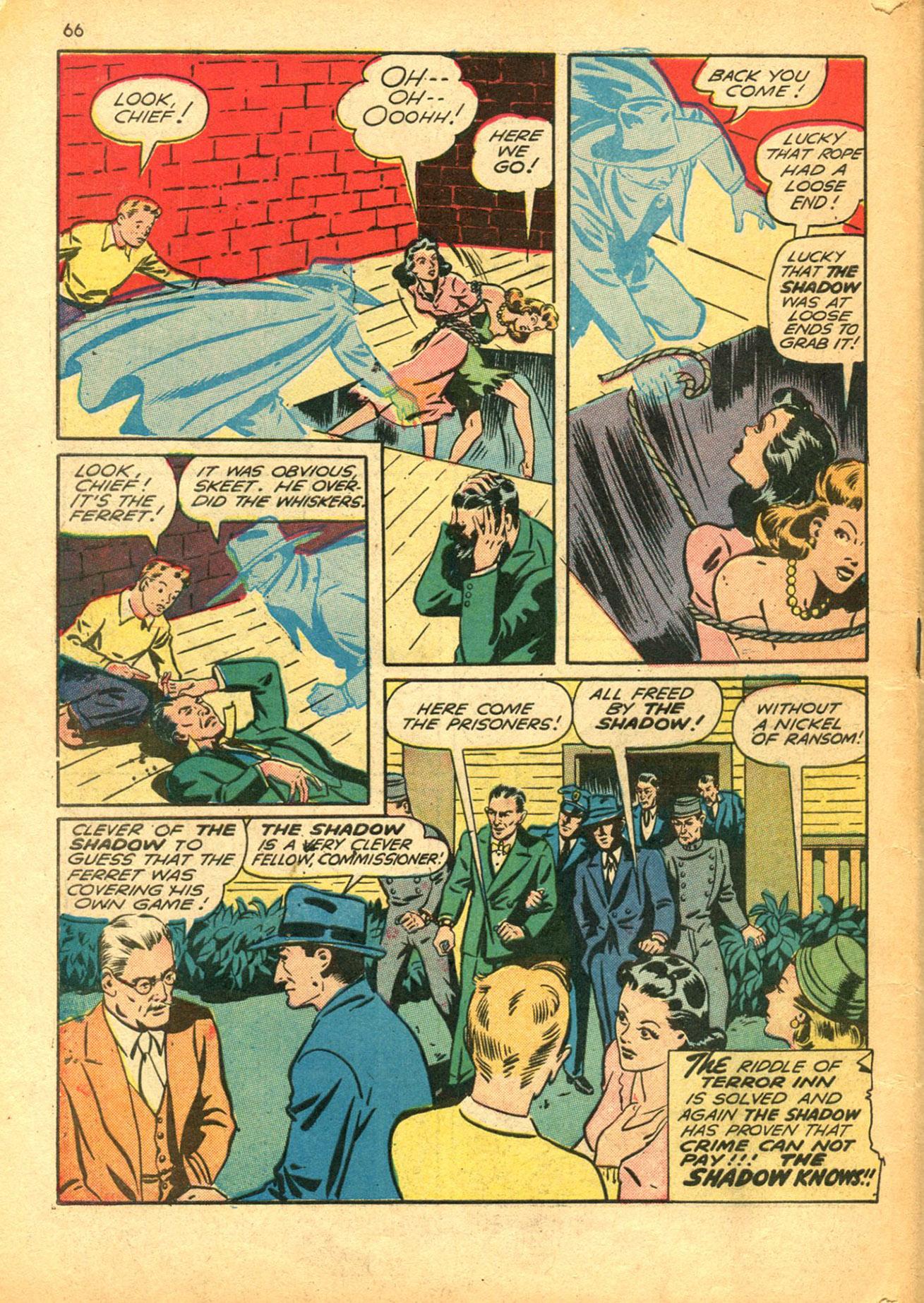 Read online Shadow Comics comic -  Issue #30 - 66