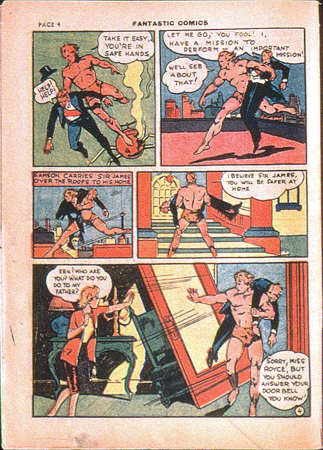Read online Fantastic Comics comic -  Issue #7 - 6