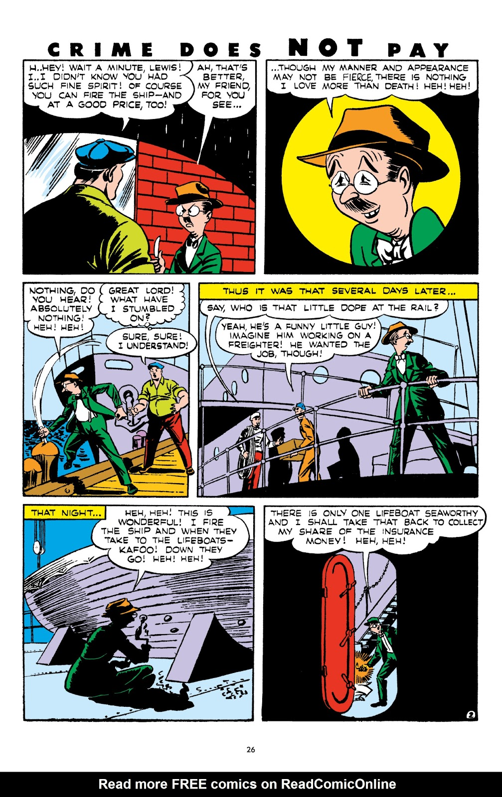 Read online Crime Does Not Pay Archives comic -  Issue # TPB 5 (Part 1) - 26