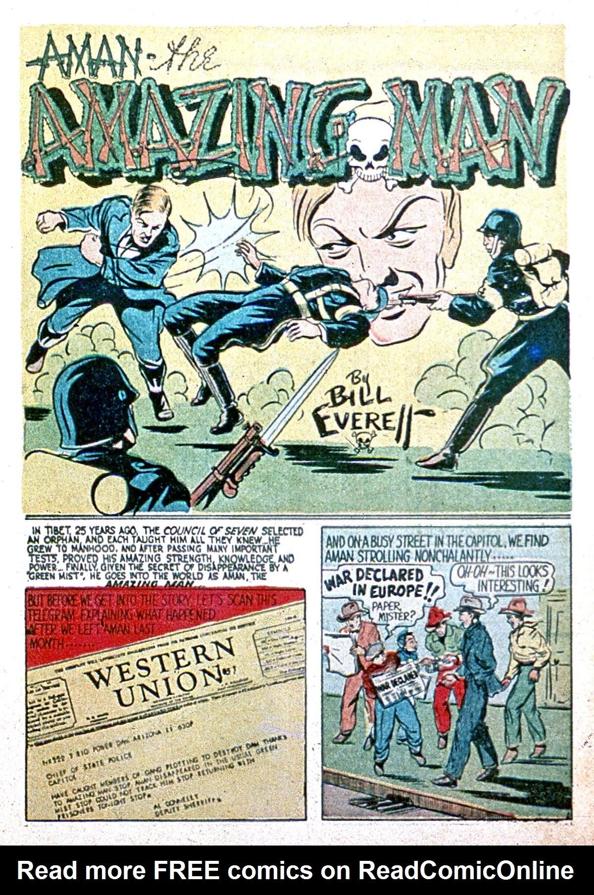 Read online Amazing Man Comics comic -  Issue #8 - 3