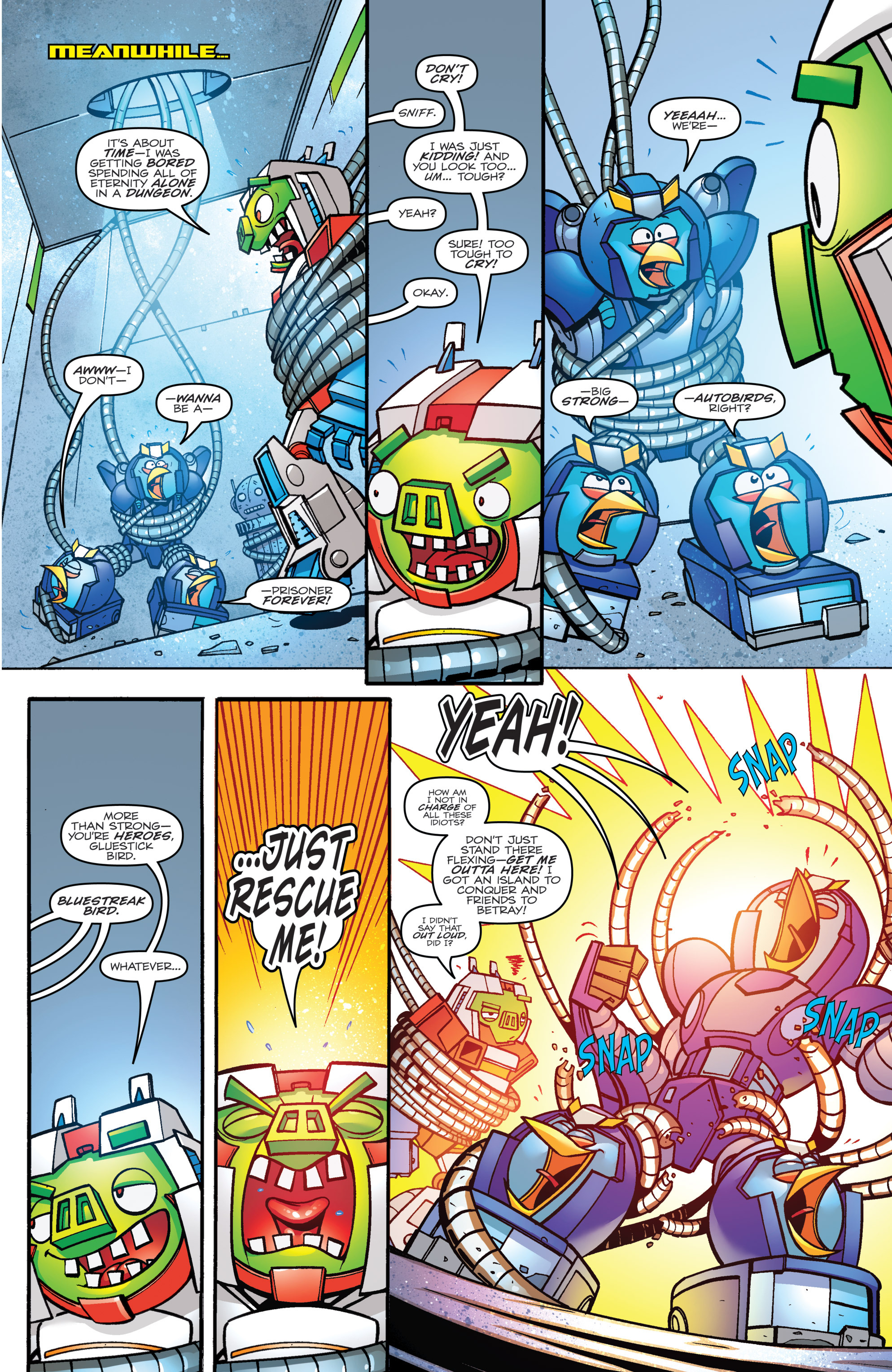 Read online Angry Birds Transformers comic -  Issue #3 - 12