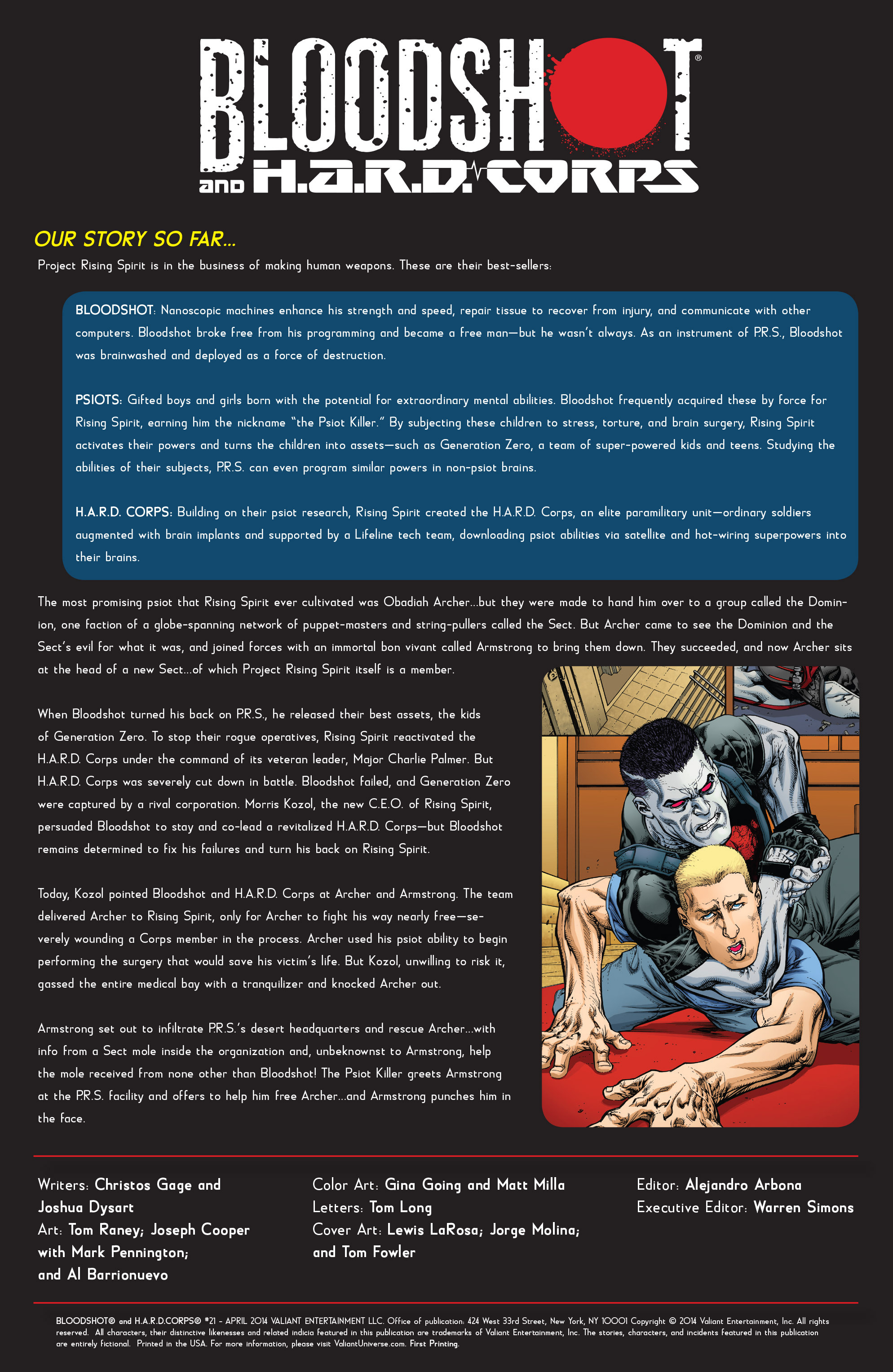 Read online Bloodshot and H.A.R.D.Corps comic -  Issue #21 - 2