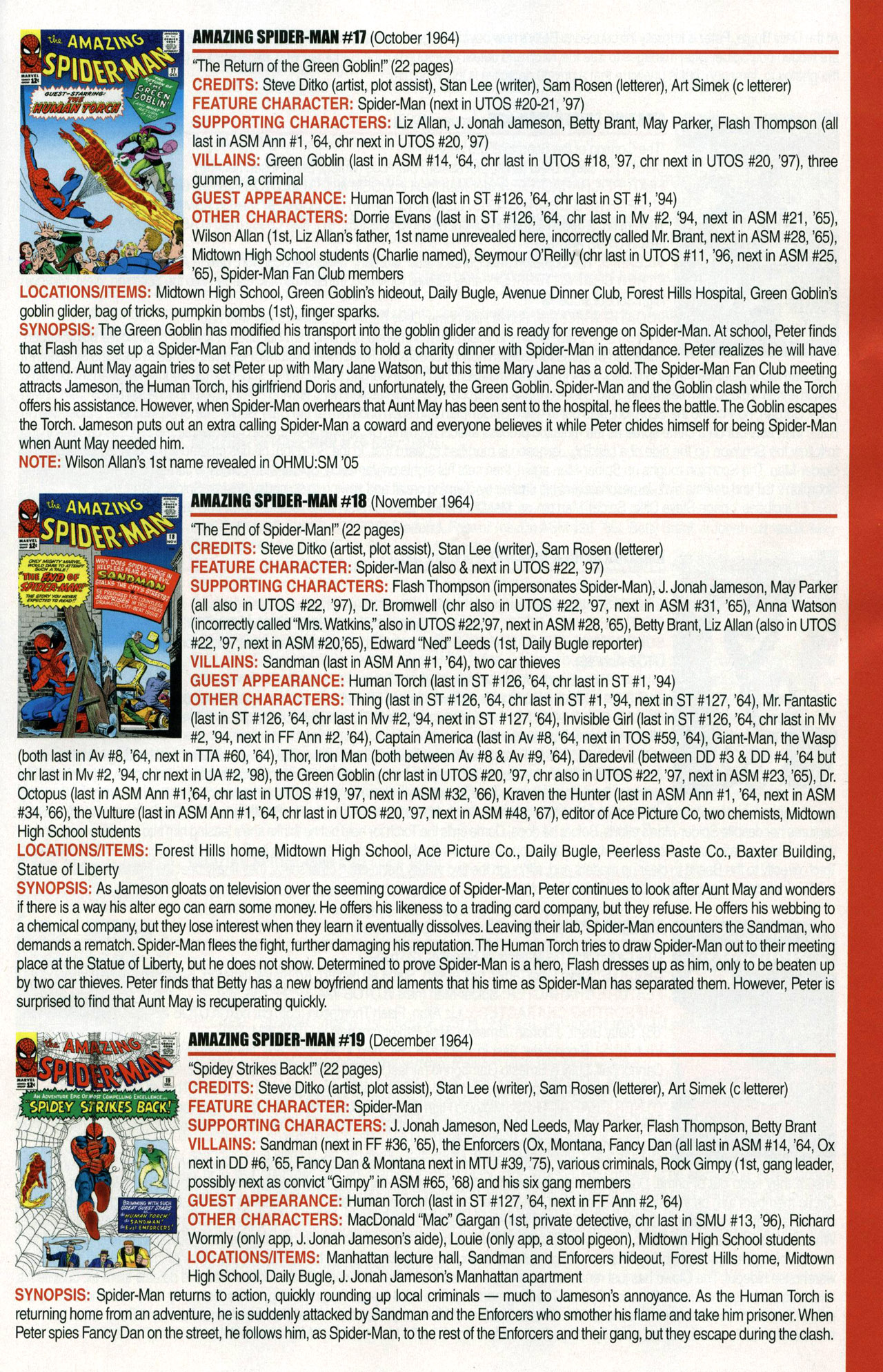 Read online Official Index to the Marvel Universe comic -  Issue #1 - 11