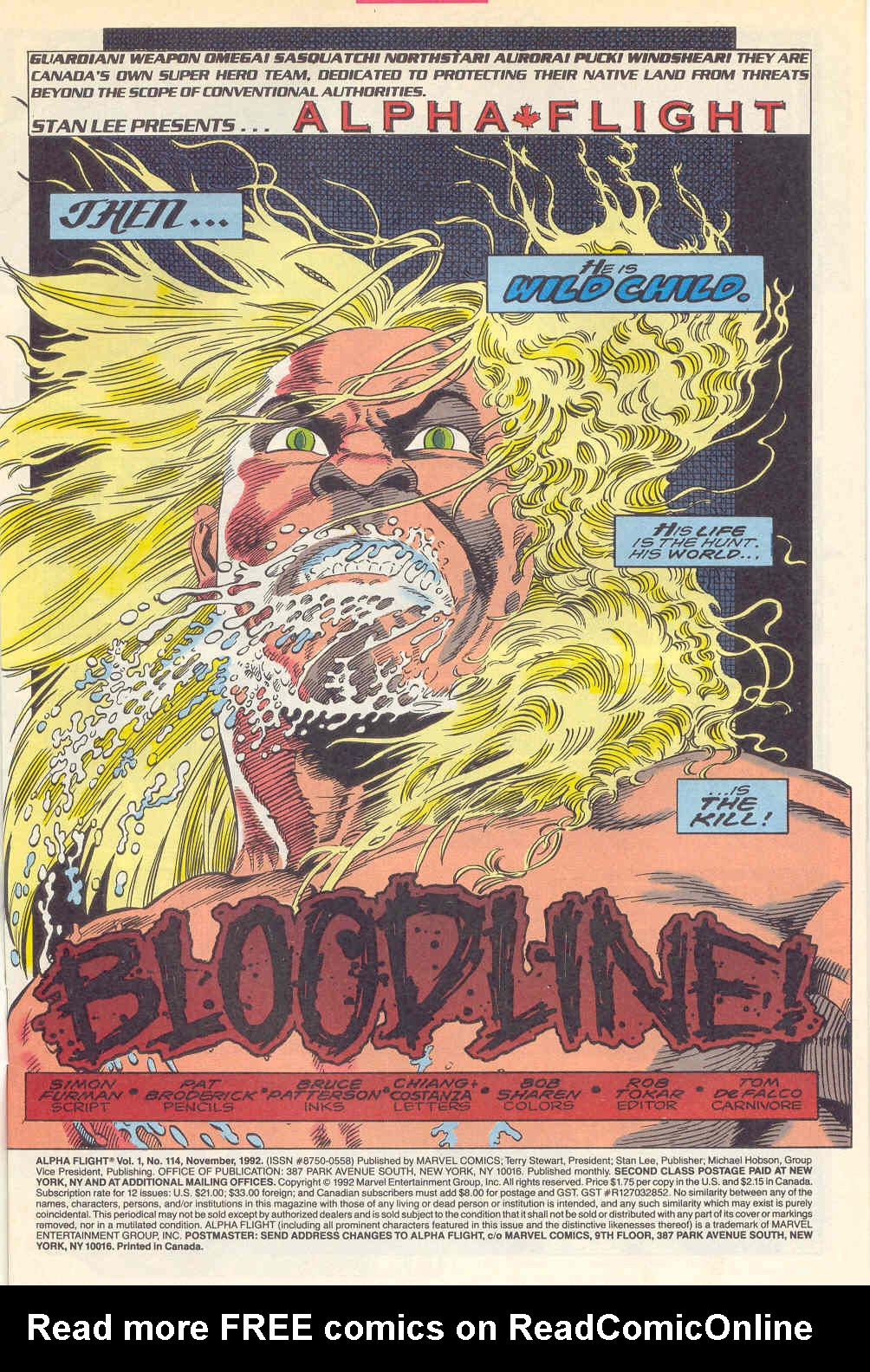 Read online Alpha Flight (1983) comic -  Issue #114 - 2